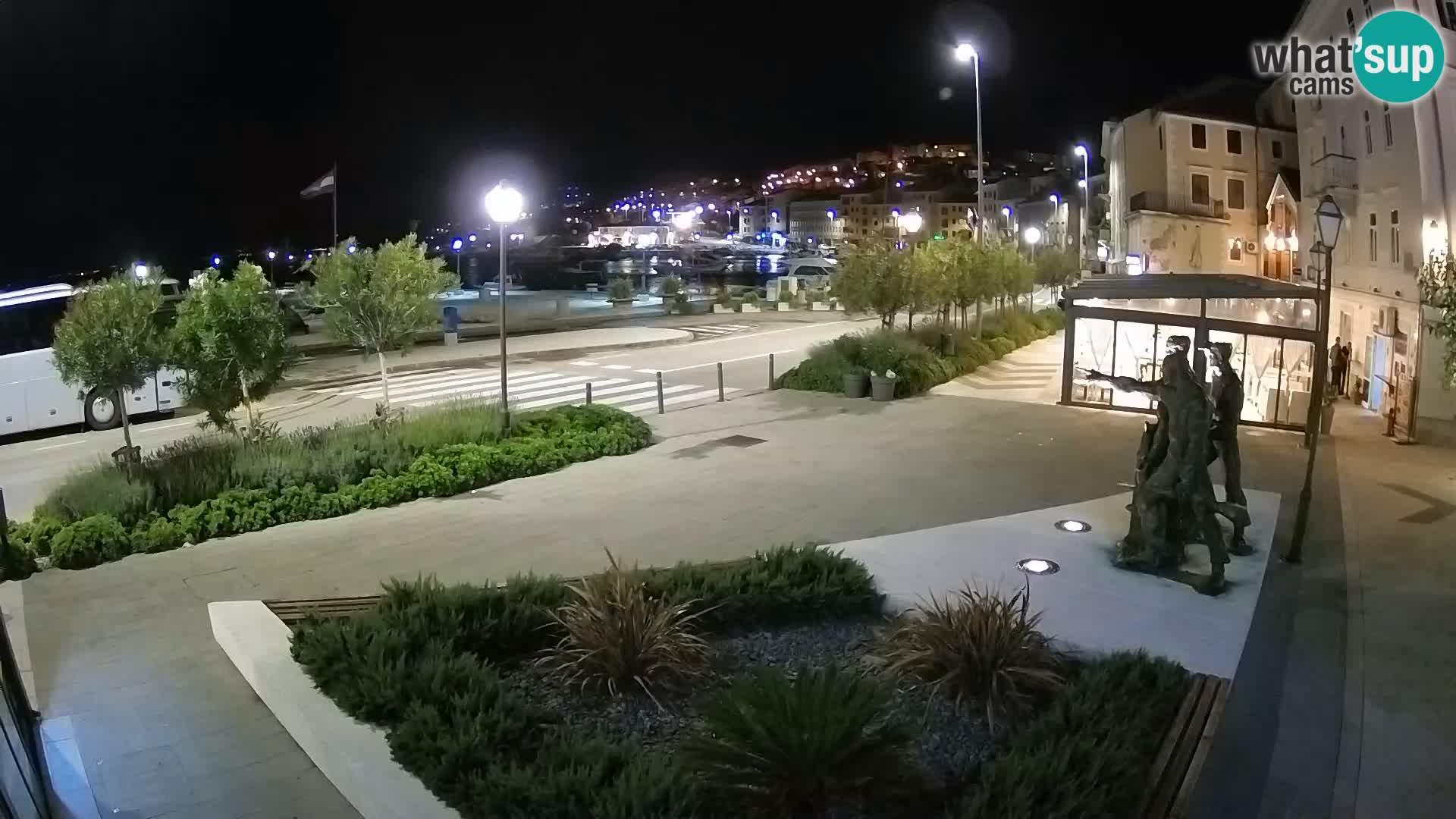 Live webcam Senj riva – fronte mare