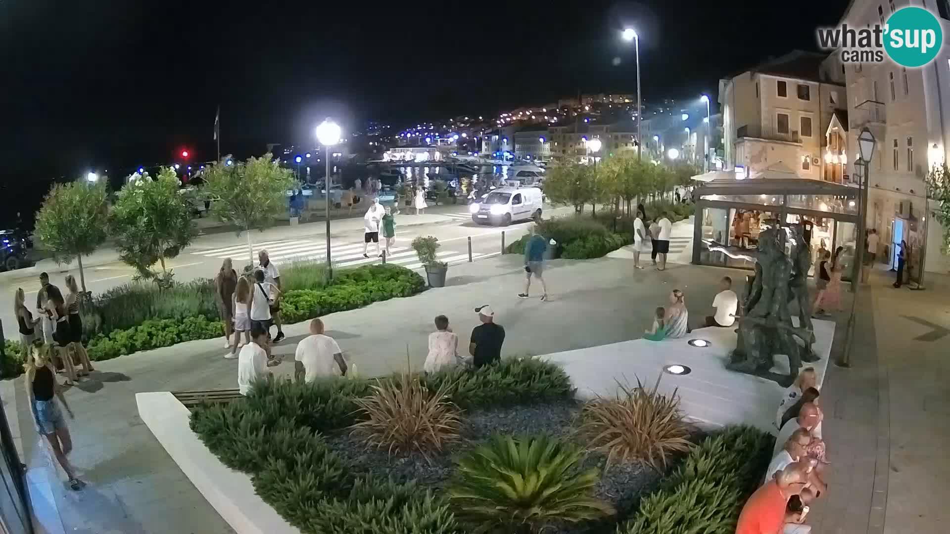 Spletna kamera v živo Senj riva – Hrvaška