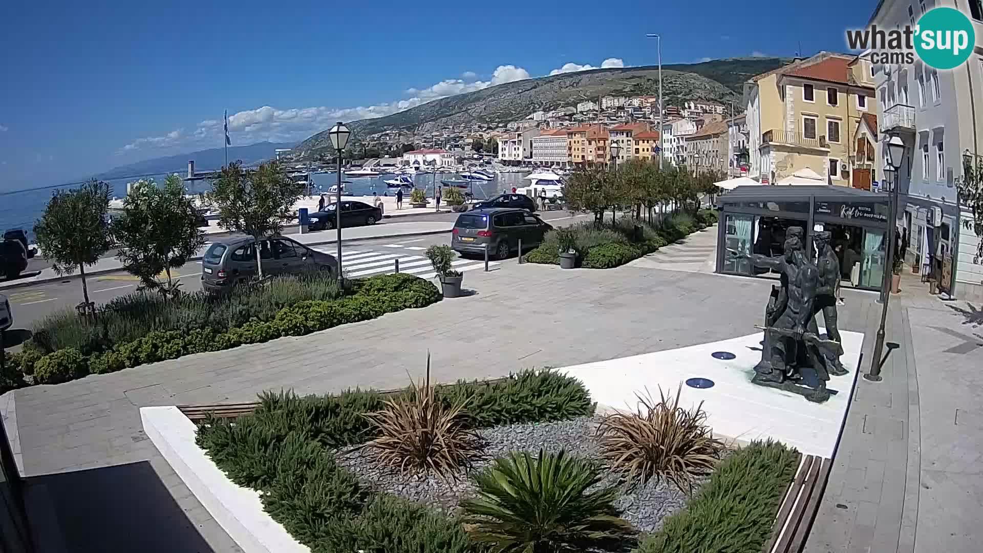 Live webcam Senj riva – seafront – Croatia