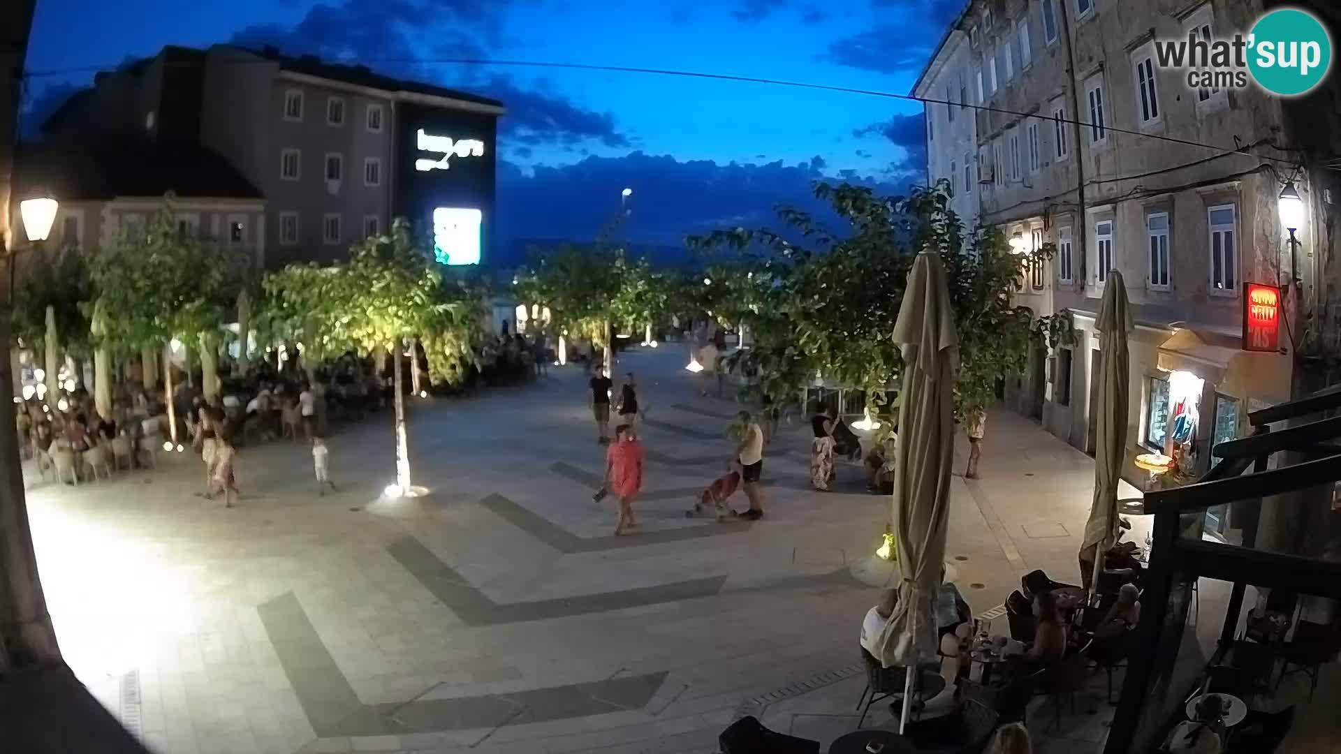 Centro de la ciudad de Senj – plaza Pavlin – Live Cam Dalmacia