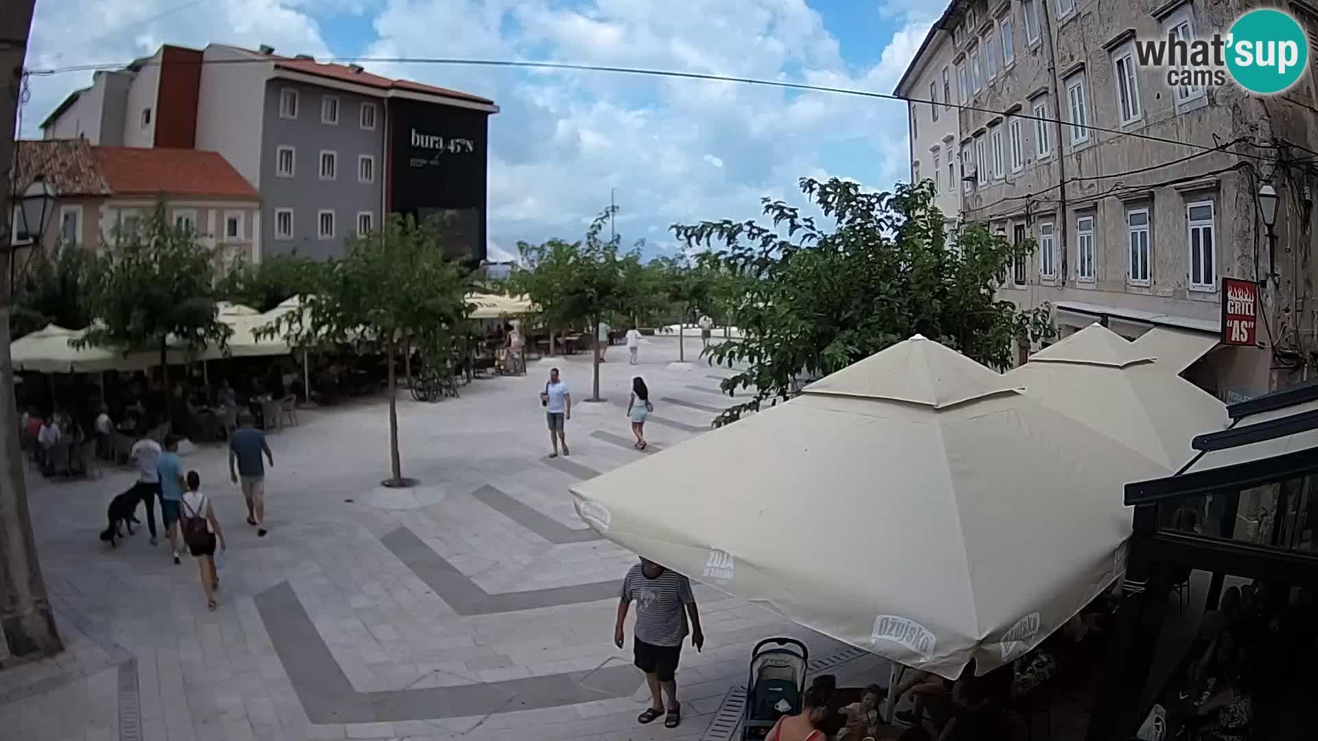 Centre de la ville de Senj – Place Pavlin – Live Cam Dalmatie