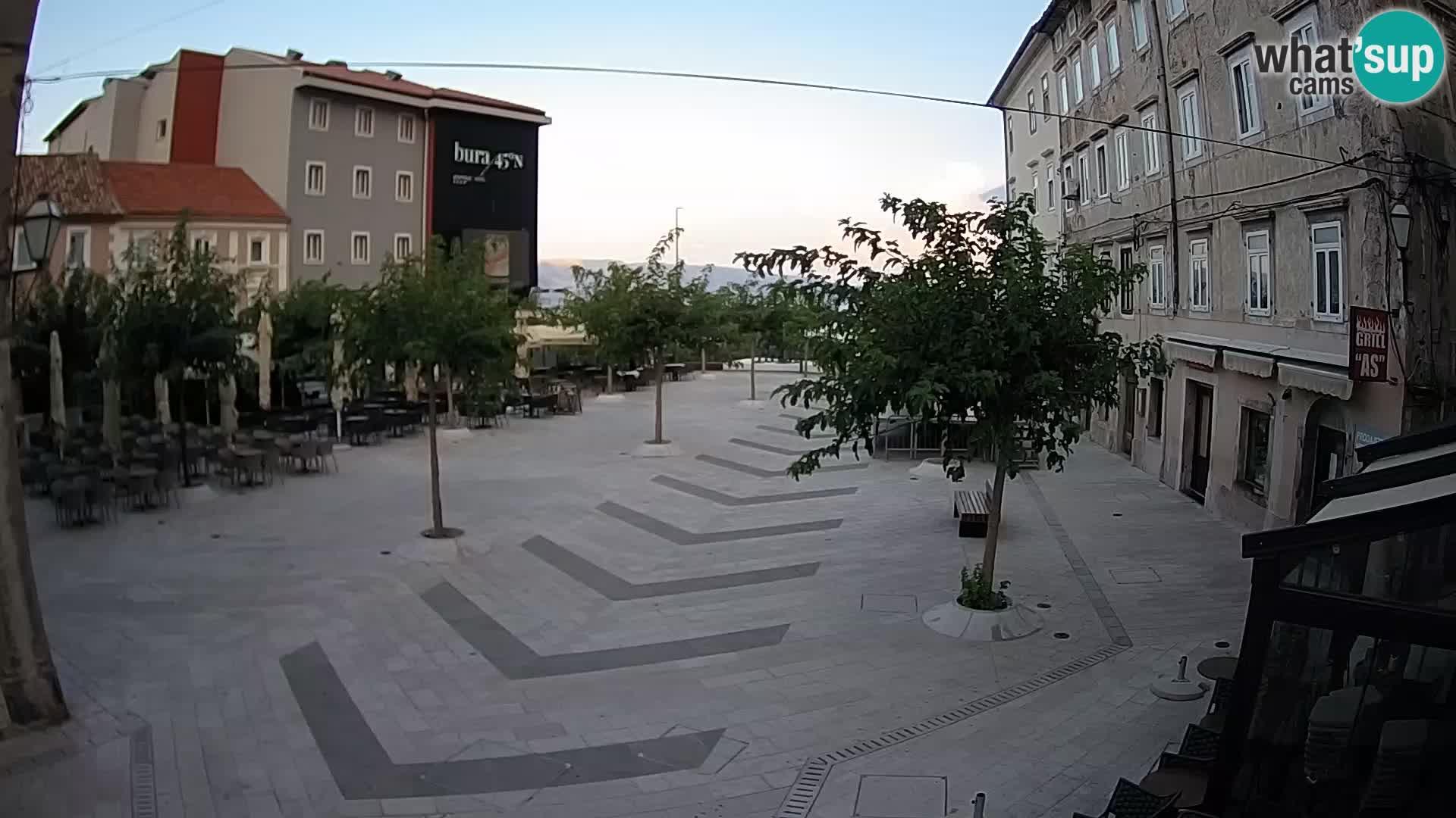 Centro della città di Senj – Piazza Pavlin – Live Cam Dalmazia