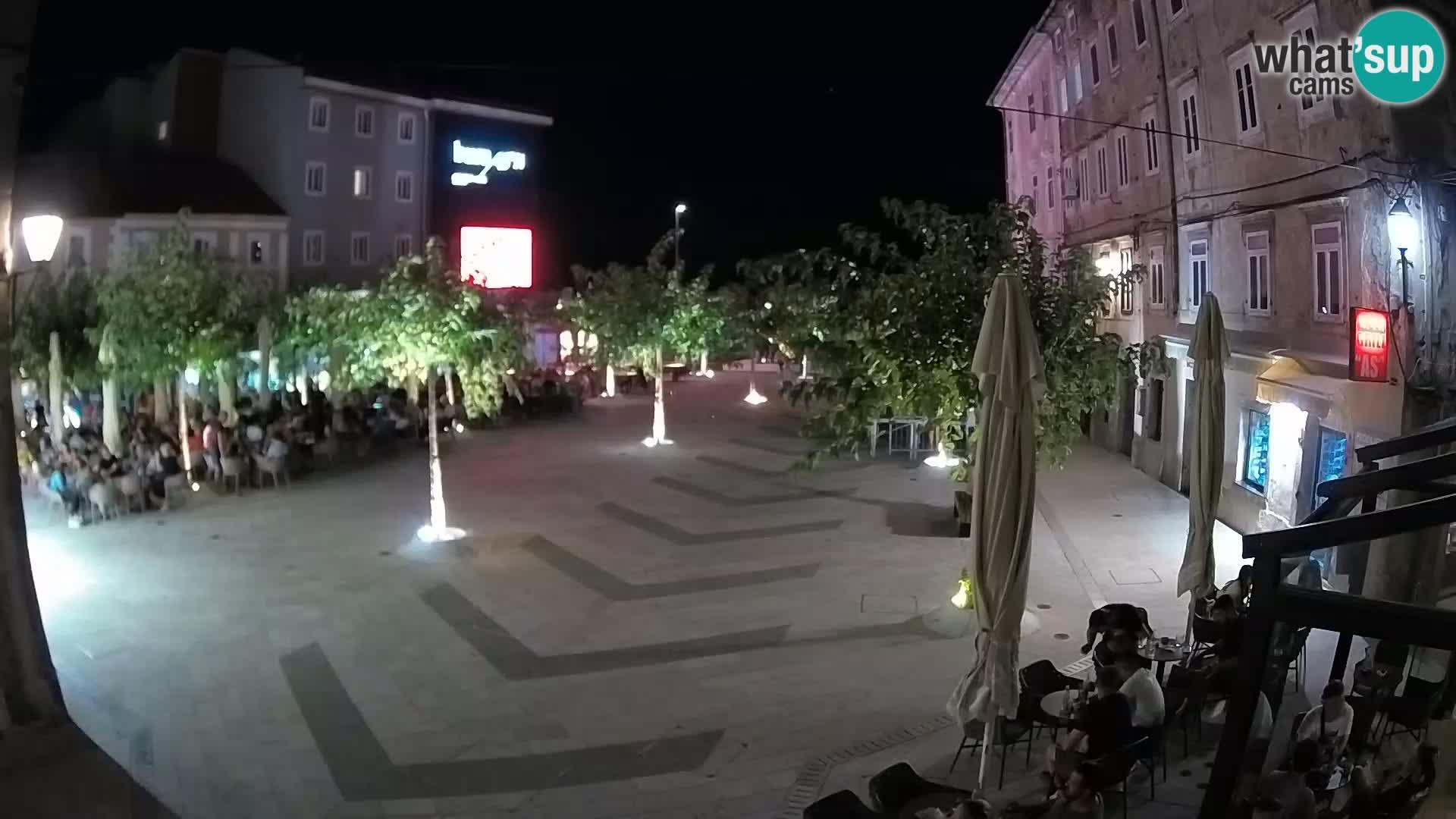 Center of Senj city – Pavlin square – Live Cam Dalmatia