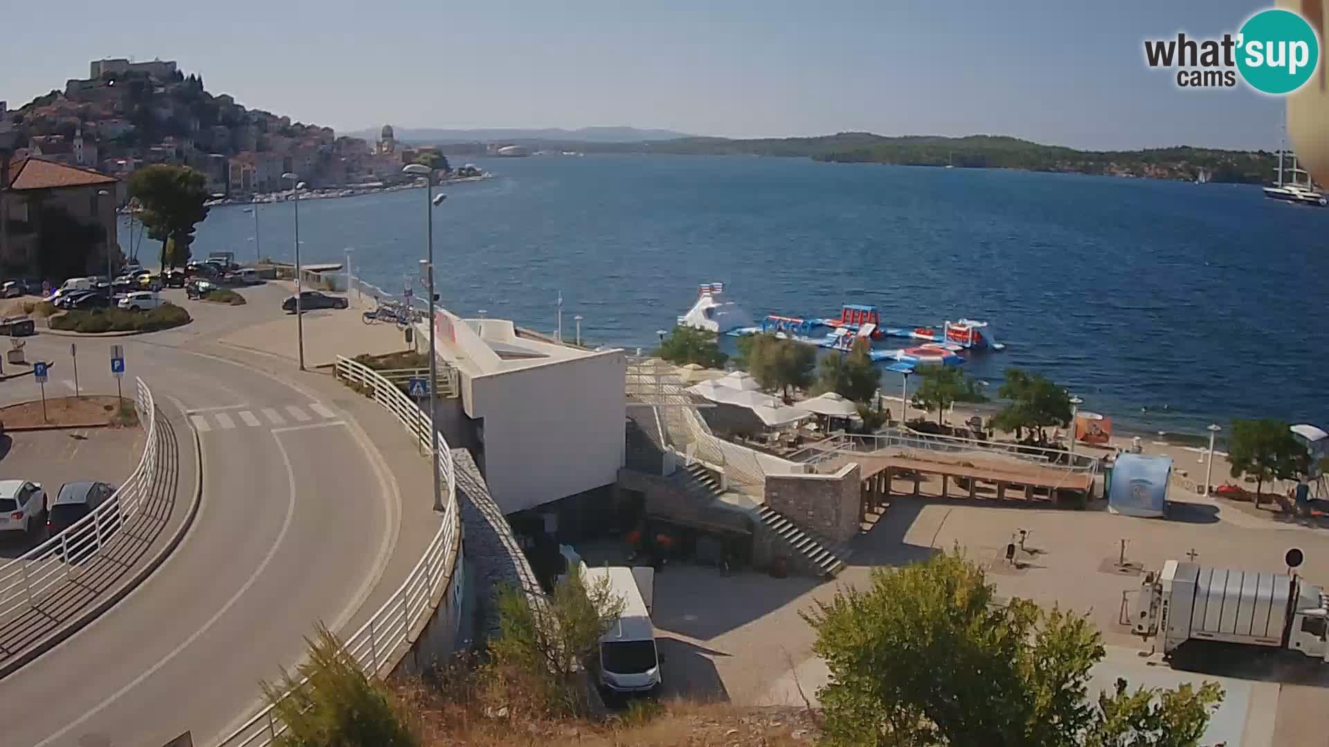 Šibenik webcam Beach Banj