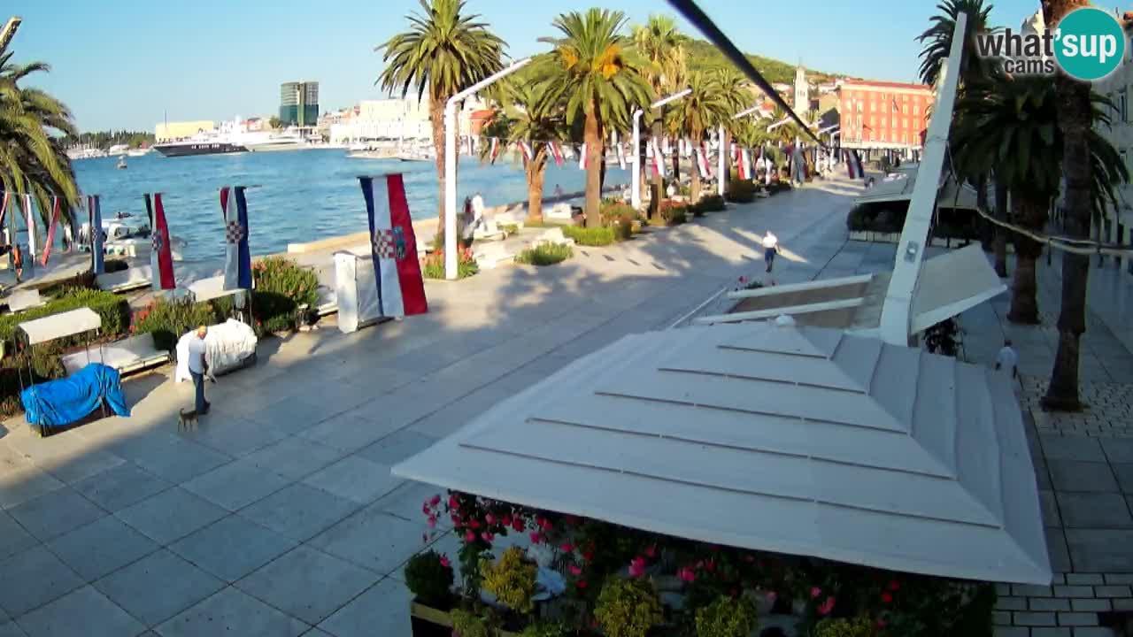 Split –  Blick auf Split riva