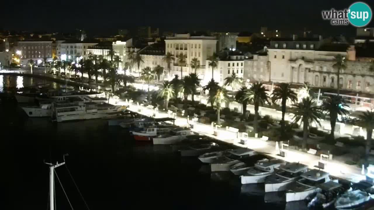 Spalato Riva panorama webcam