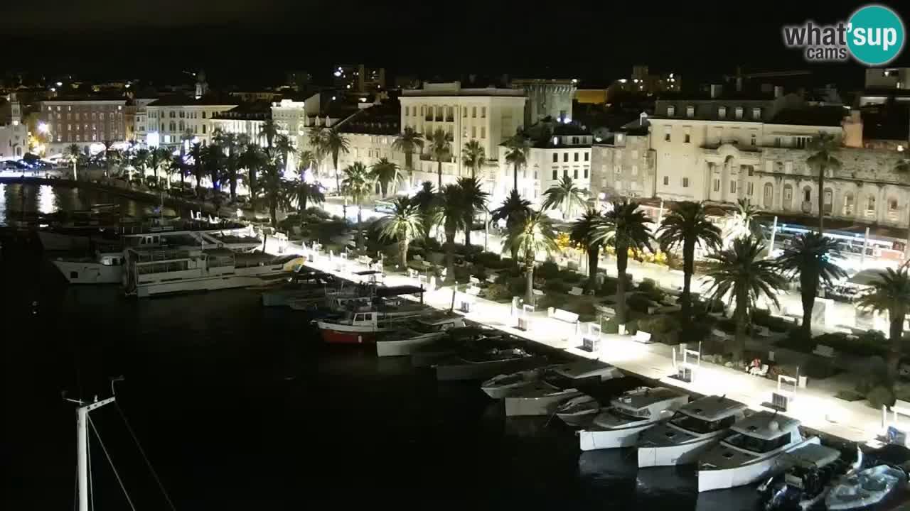 Kamera v živo Split  riva in pristanišče