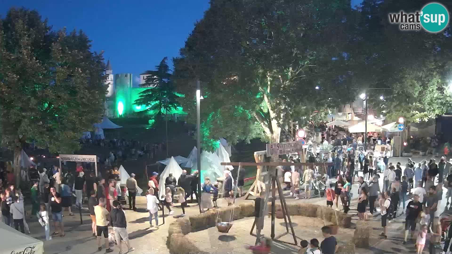 Svetvinčenat v živo – pogled na grad Morosini Grimani – Istra – Hrvaška