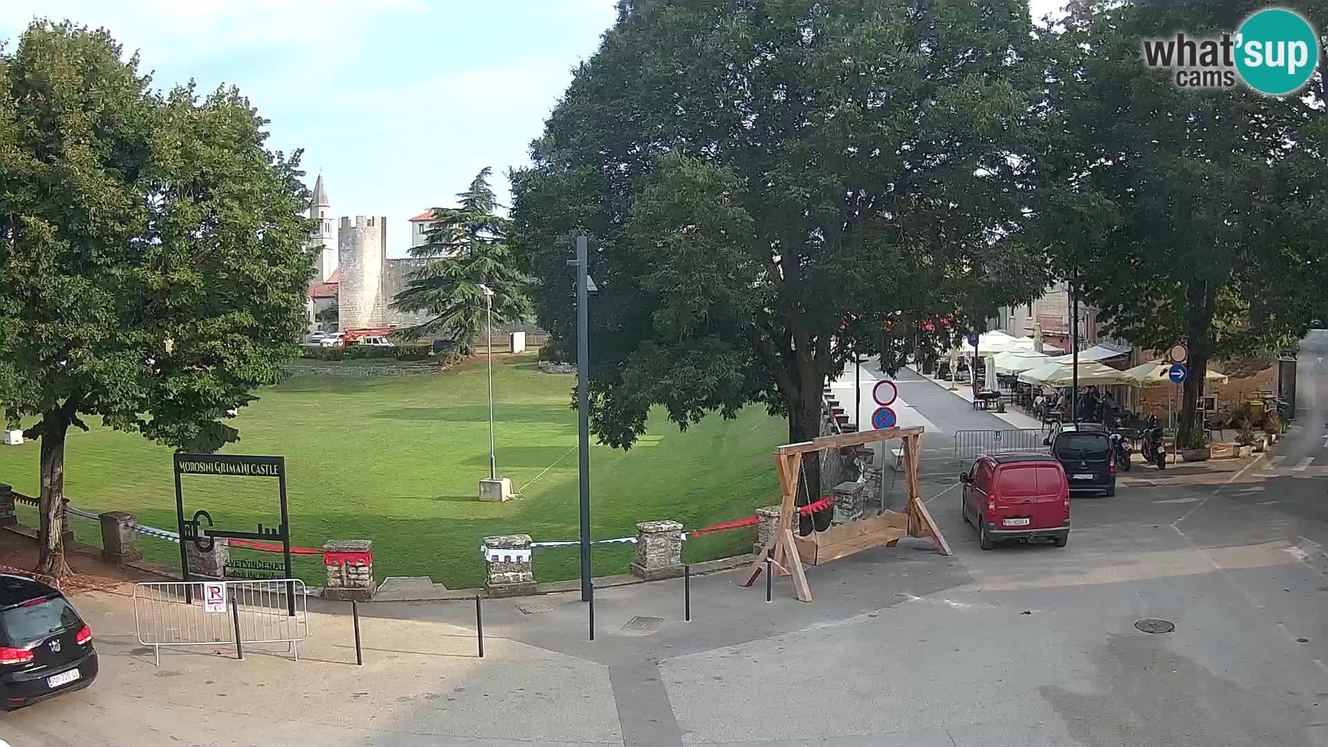 Live Svetvinčenat – Blick auf Schloss Morosini Grimani – Istrien – Kroatien