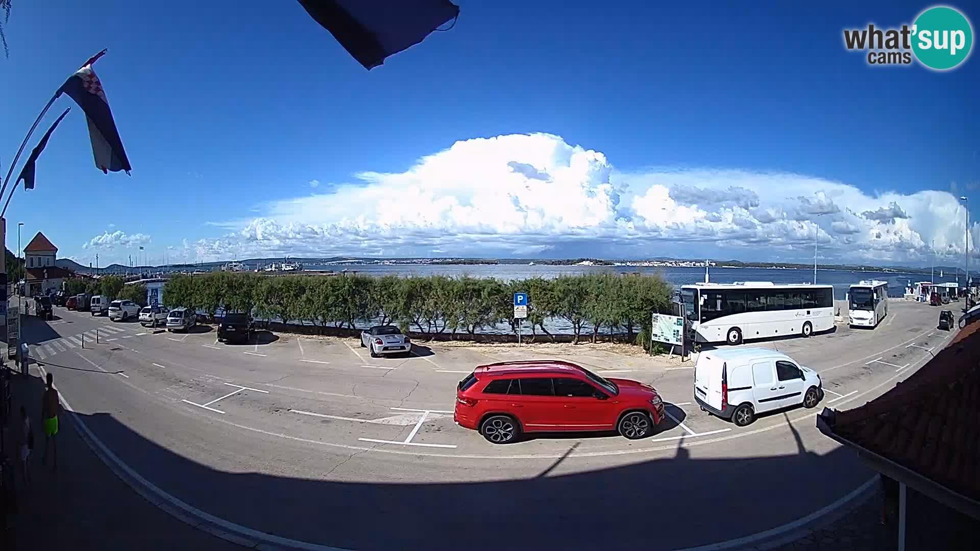 Web kamer u živo Tkon – trajektni terminal