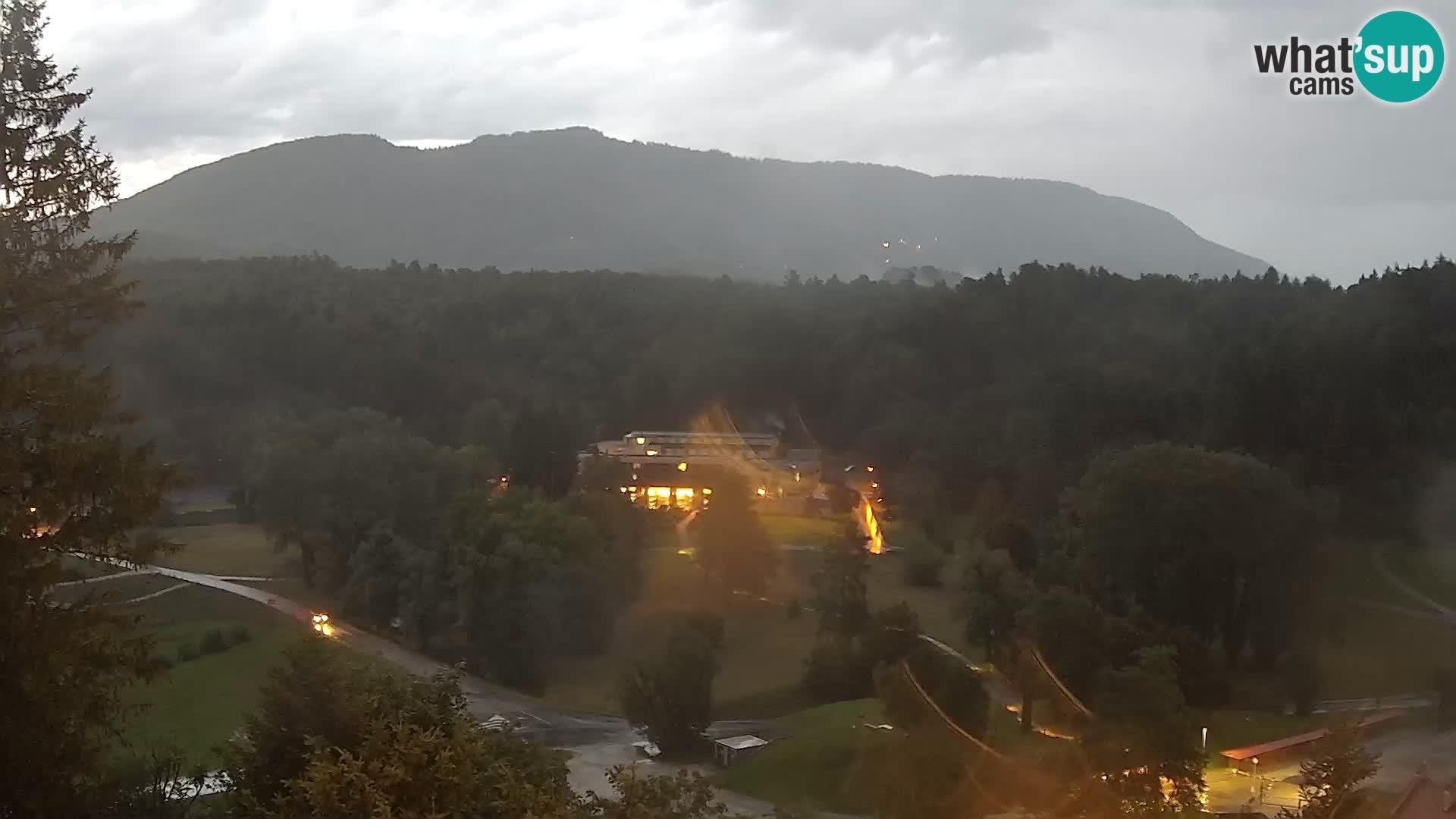 Trakošćan – Blick vom Schloss