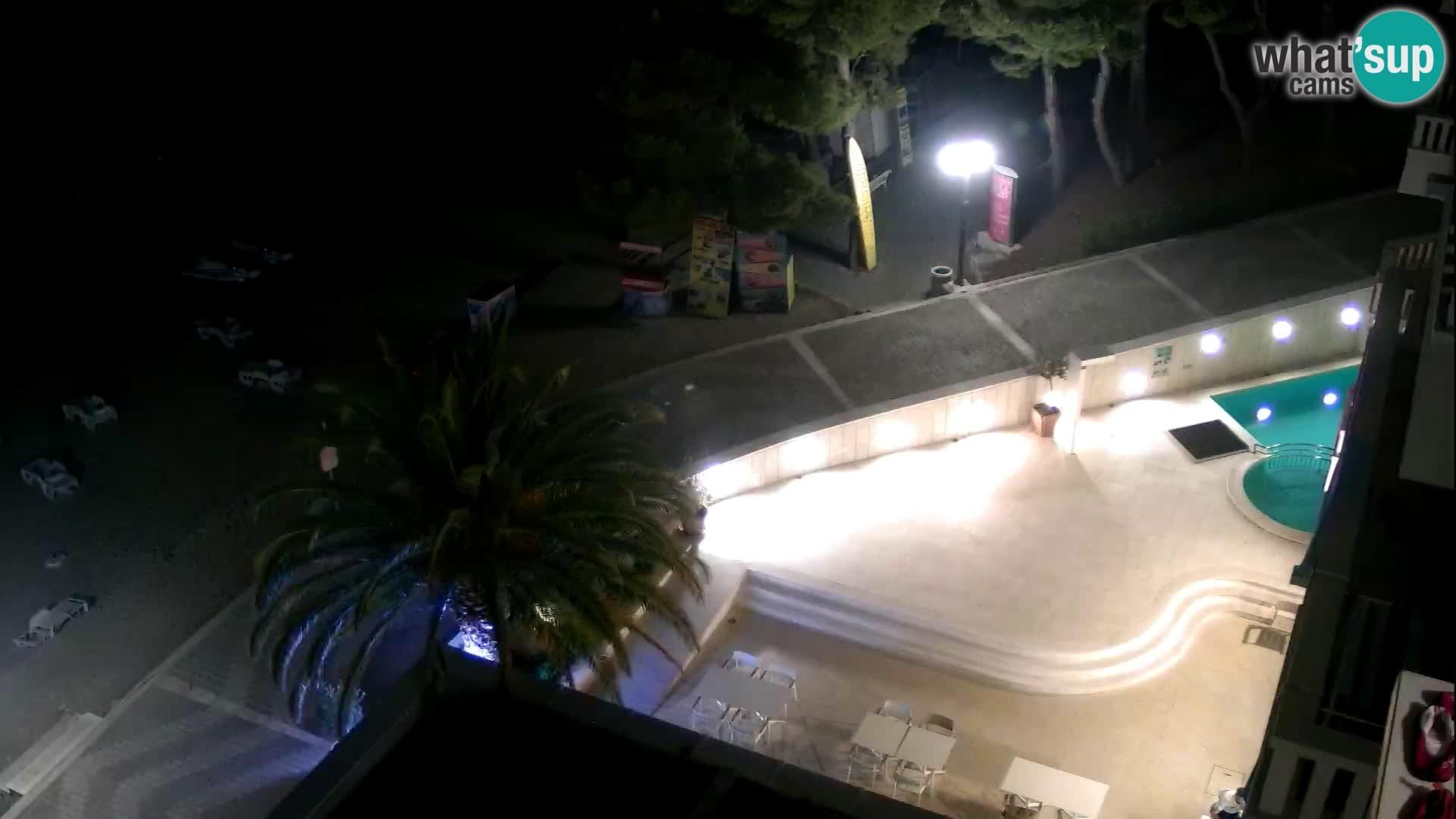 Livecam Tučepi – Hotel Tamaris – webcam Dalmazia