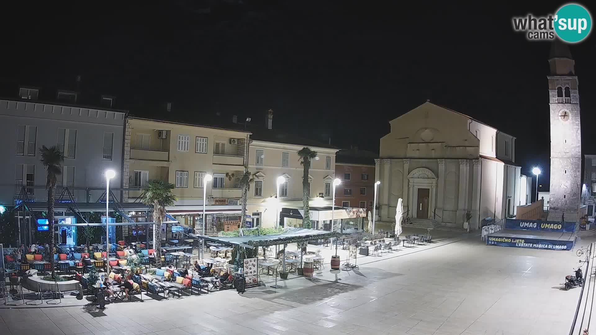 Webcam Hauptplatz in Umag