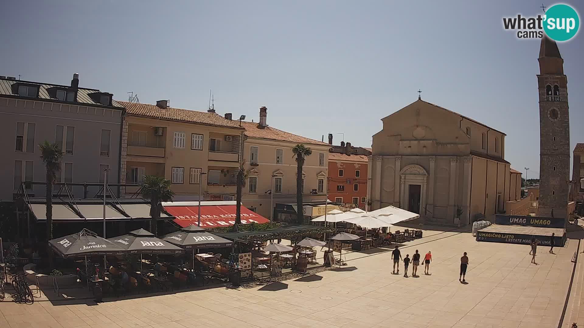 Webcam – Plaza Central en Umag