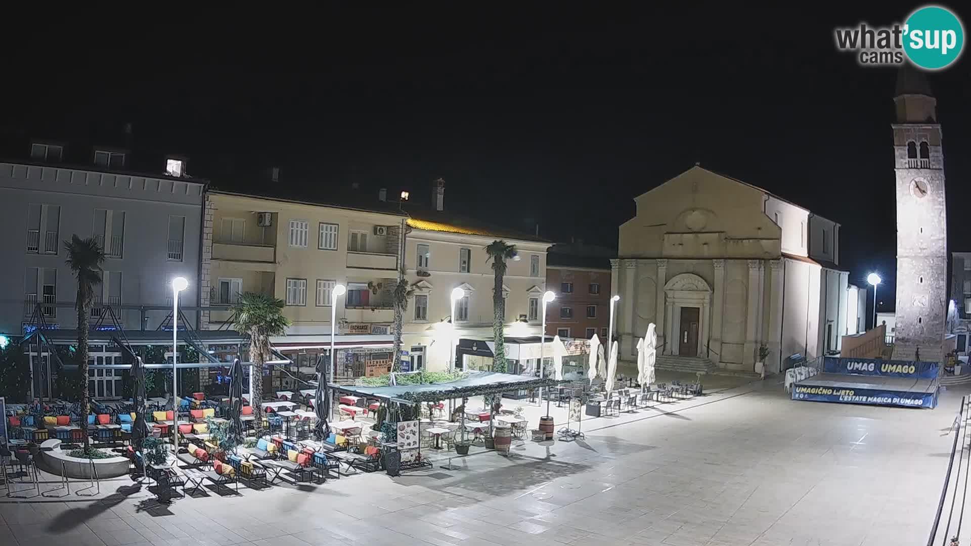 Webcam – Piazza centrale di Umago