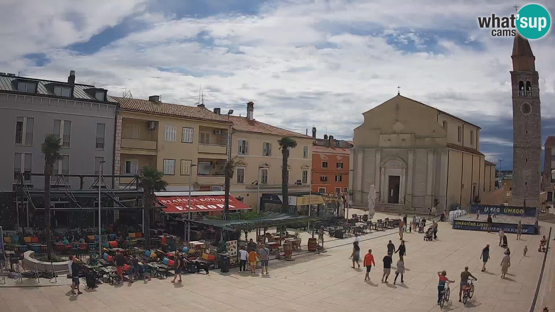 Webcam live – Place centrale dans Umag