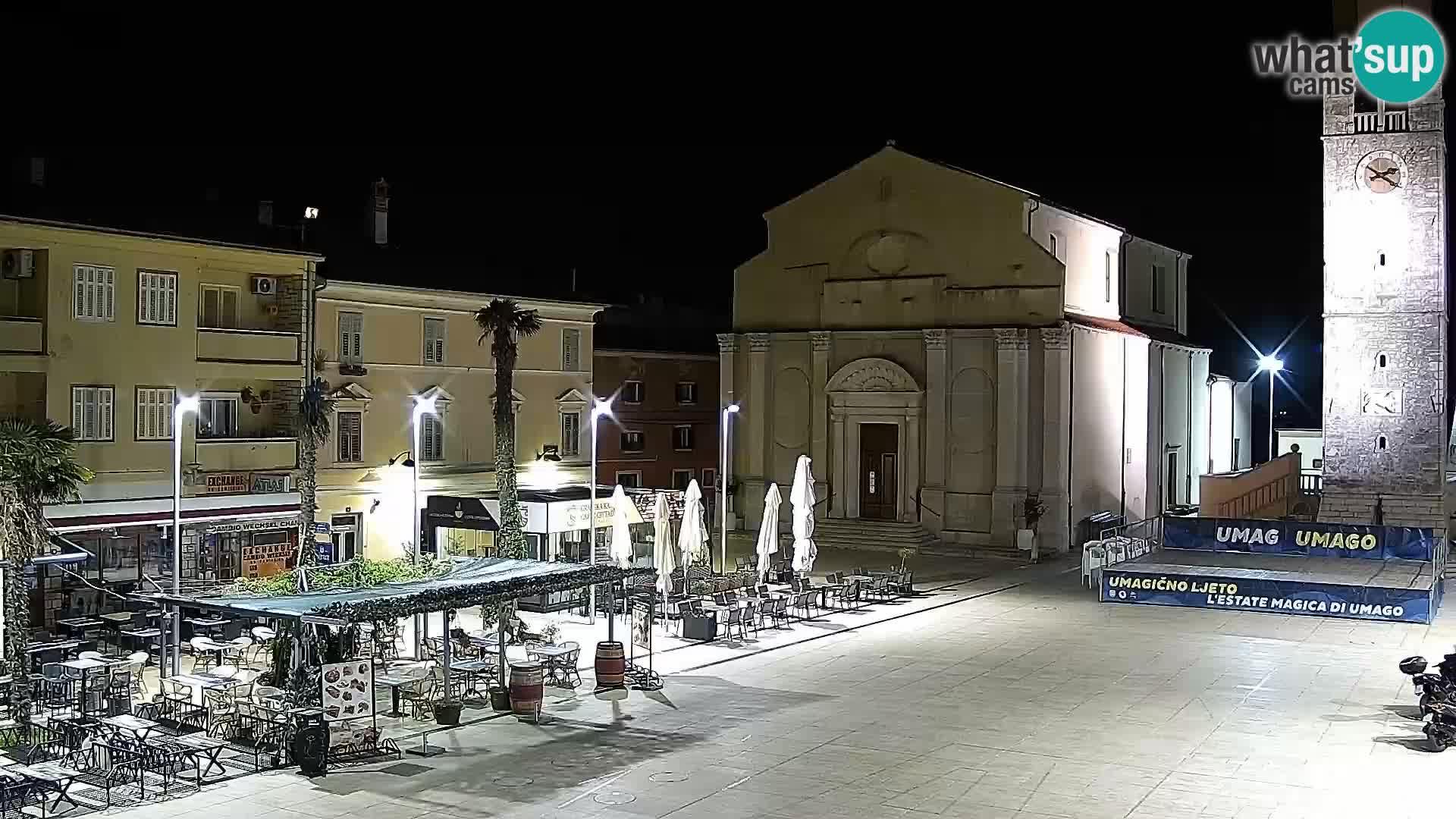 Piazza principale Umago Live Webcam