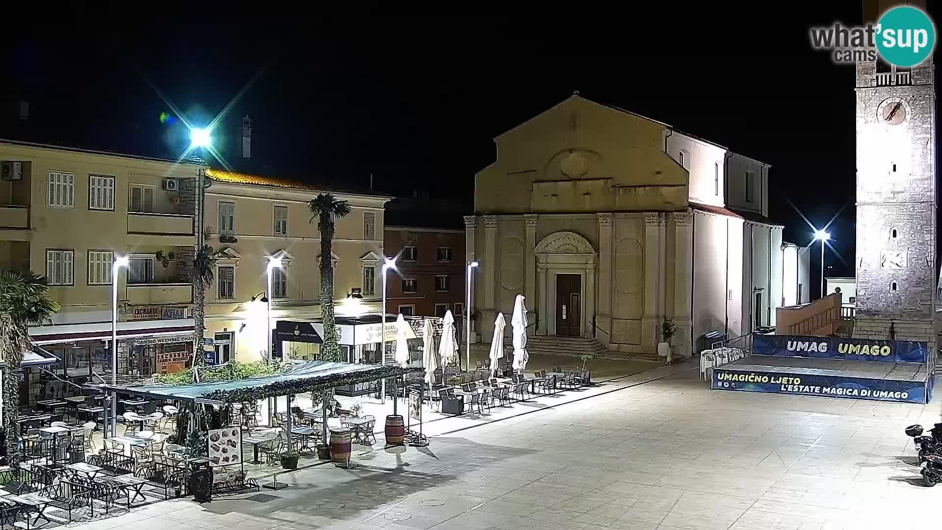 Plaza principal Umag camera en vivo