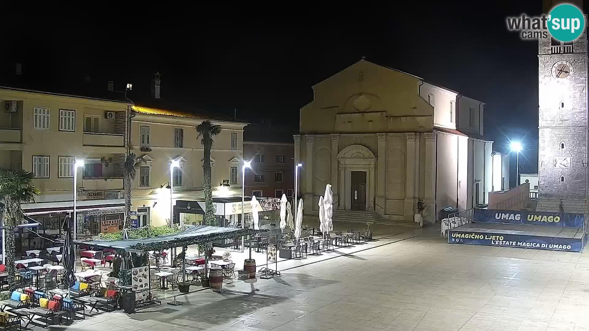 Hauptplatz Umag webcam