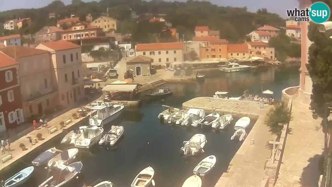 Webcam Live – The harbor and the bay of Veli Lošinj
