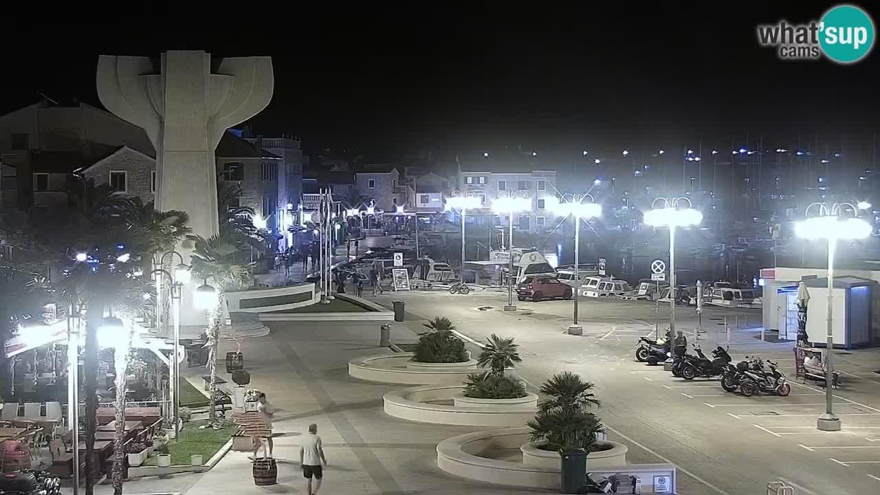 Vodice webcam live – front de mer