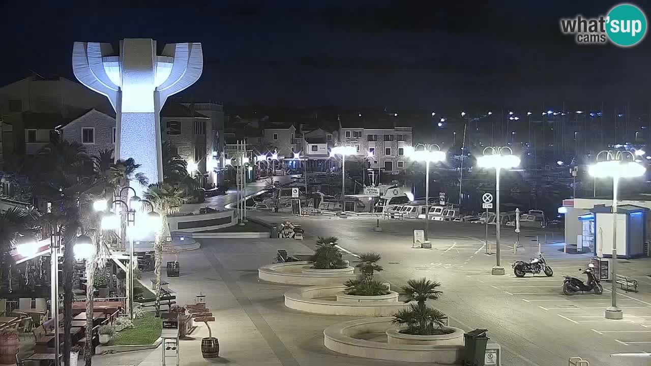 Vodice Live webcam – marina and  seafront