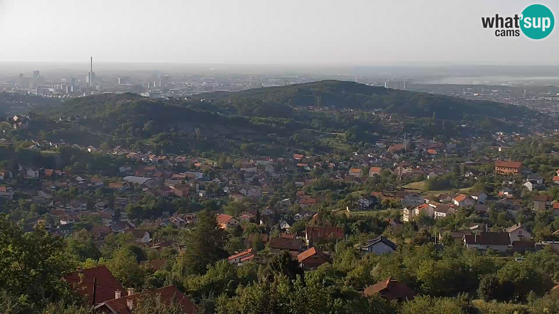 Panoramablick von Zagreb
