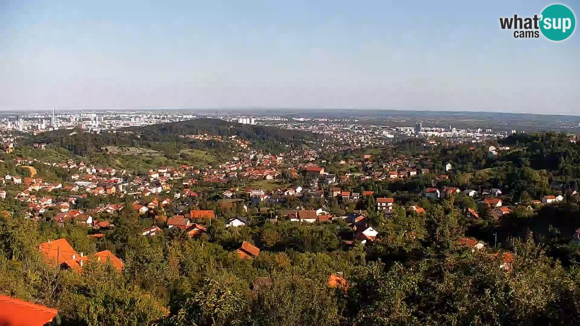 Vista panoramica di Zagabria