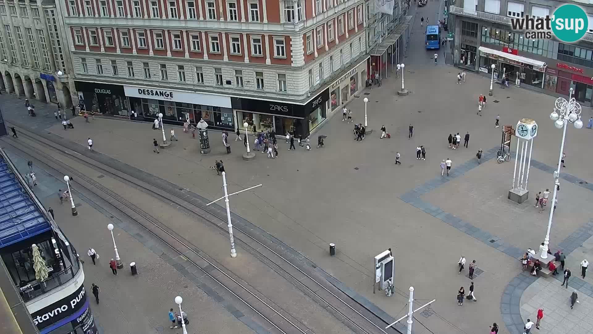 LIVE Webcam Zagreb – Ban Jelačić – Hotel Dubrovnik