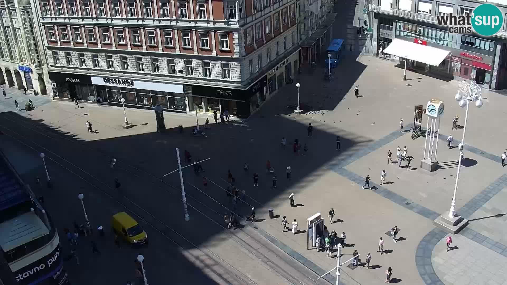 Webcam live Zagreb – Piazza Ban Jelačić