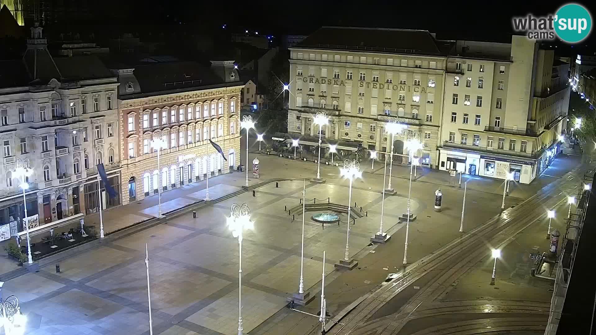 Trg Bana Jelačića v živo Zagreb – Hotel Dubrovnik
