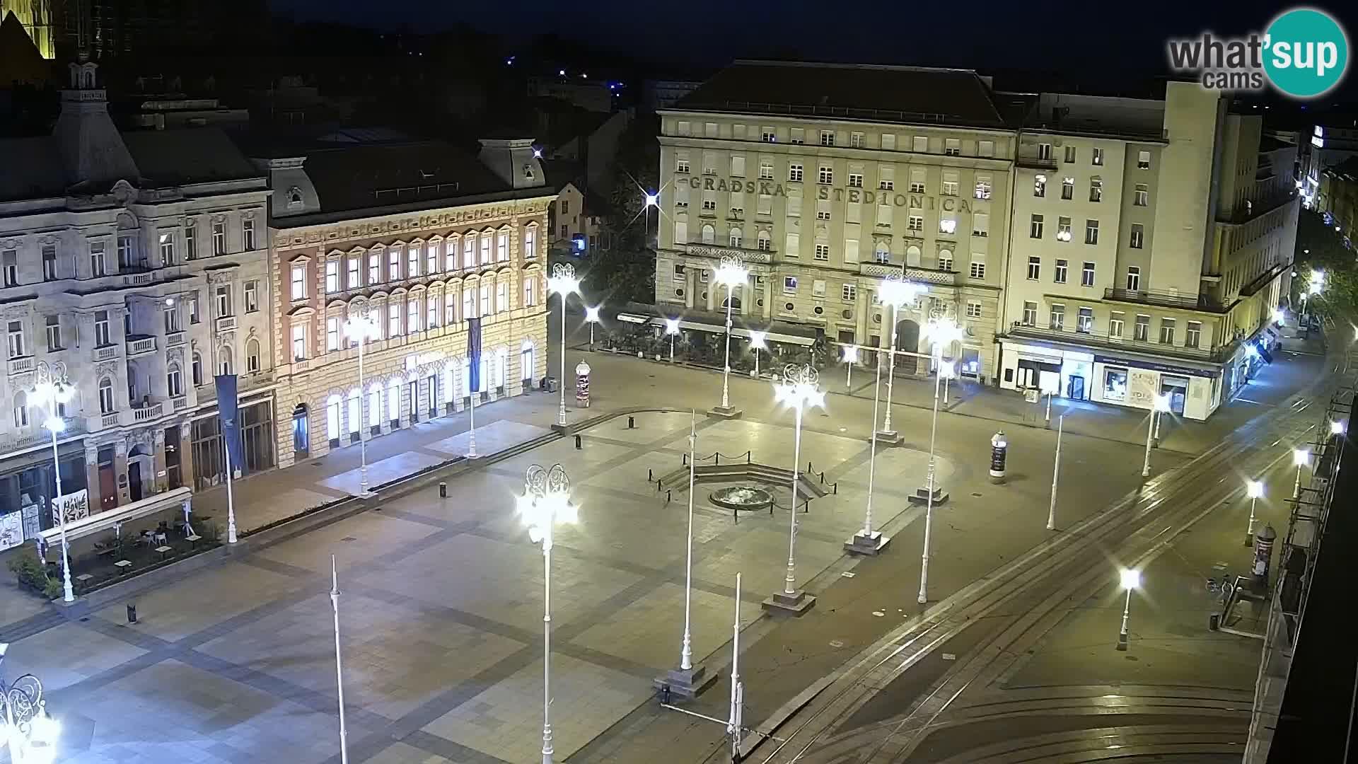 Kamera v živo Zagreb – Trg Bana Jelačića