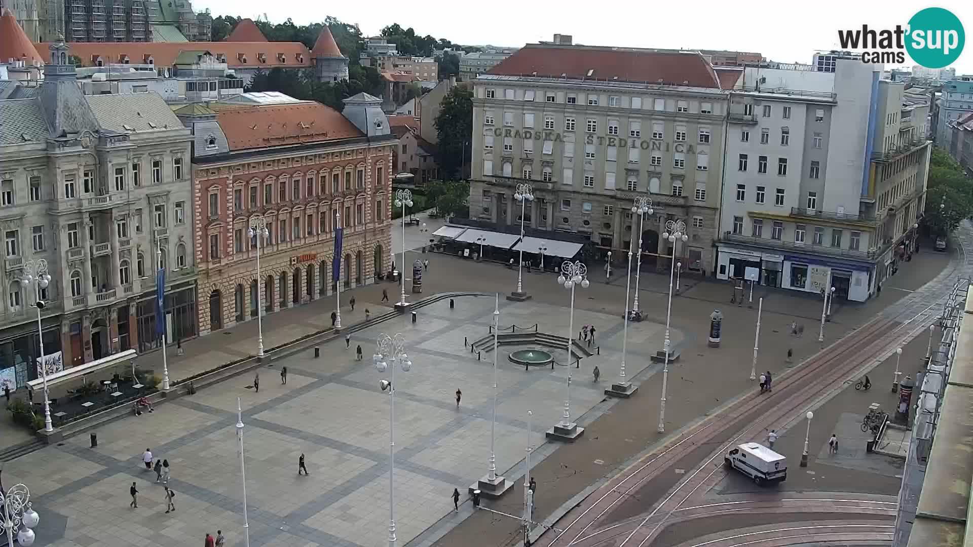 Ban Jelačić Platz  Live webcam Zagreb – Hotel Dubrovnik