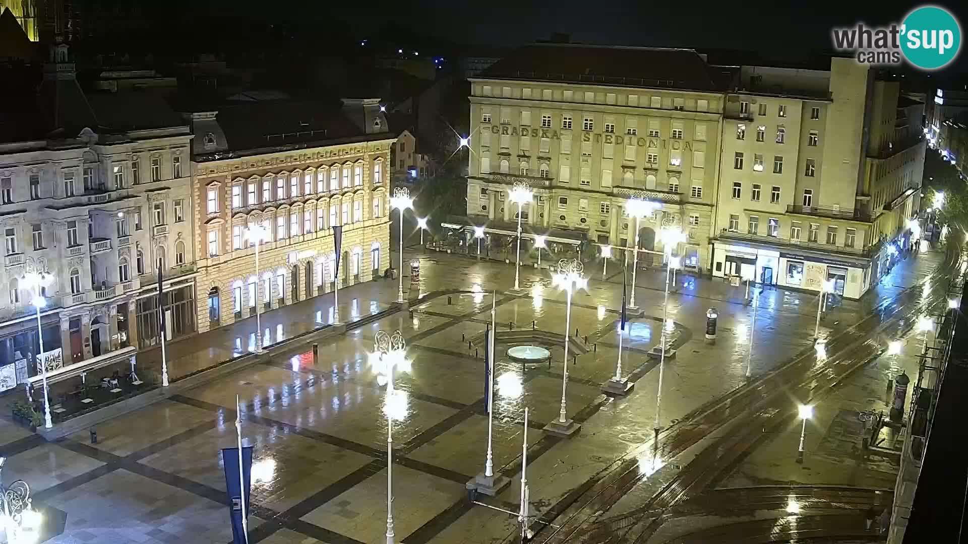 Zagreb – Bana Jelačića square panorama