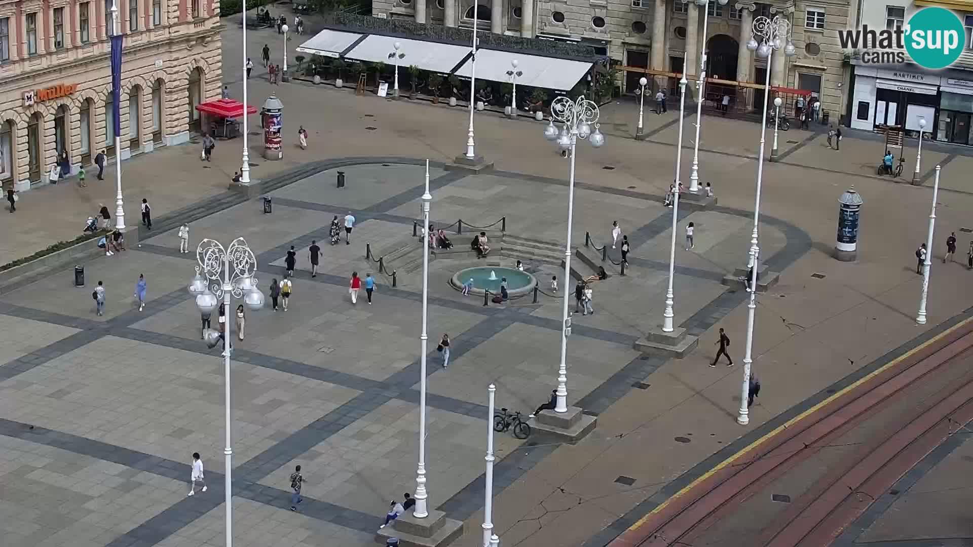 Ban Jelačić live cam Zagreb – Hotel Dubrovnik
