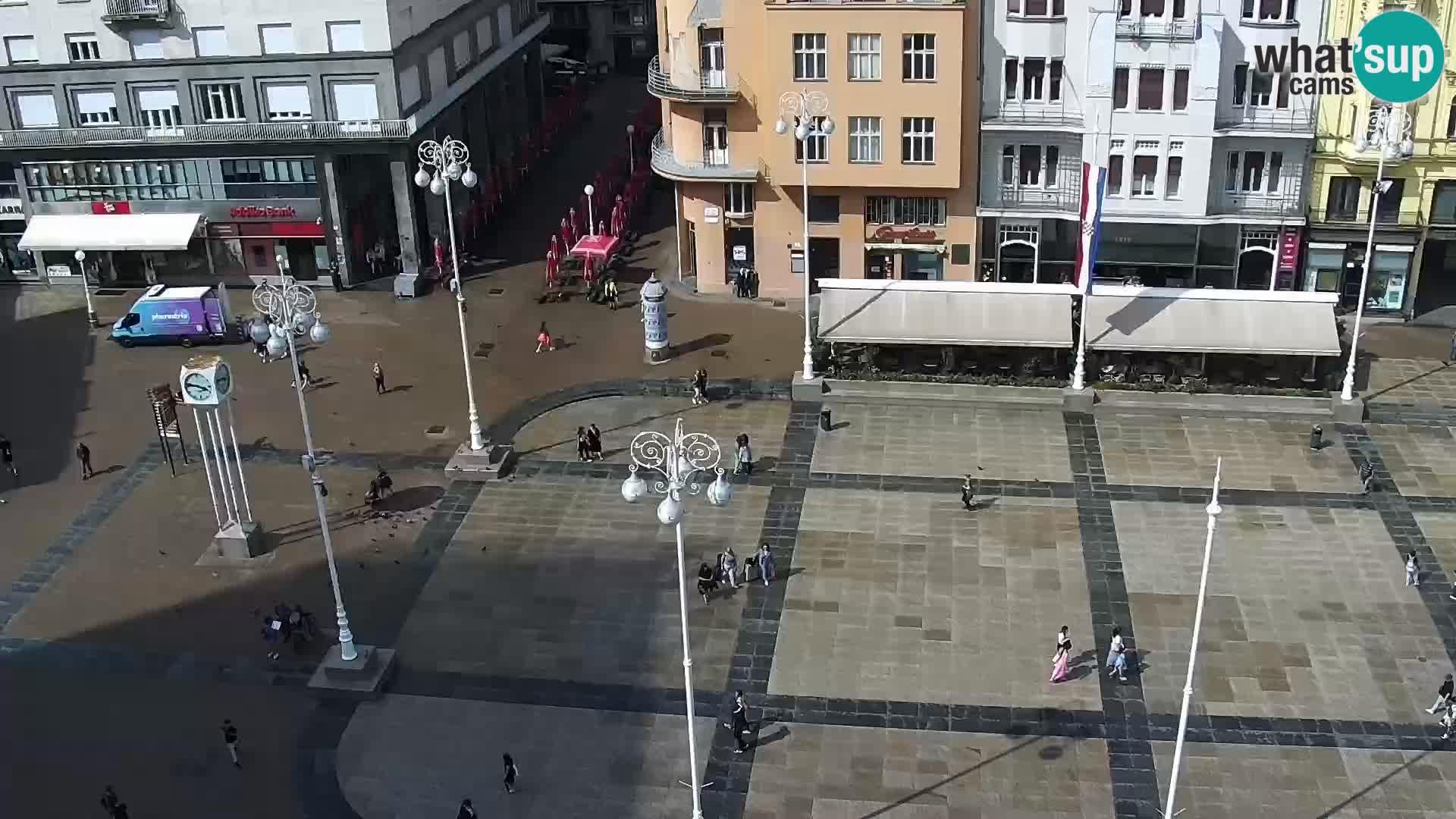 Plaza Ban Jelačić camera en vivo Zagreb – Hotel Dubrovnik