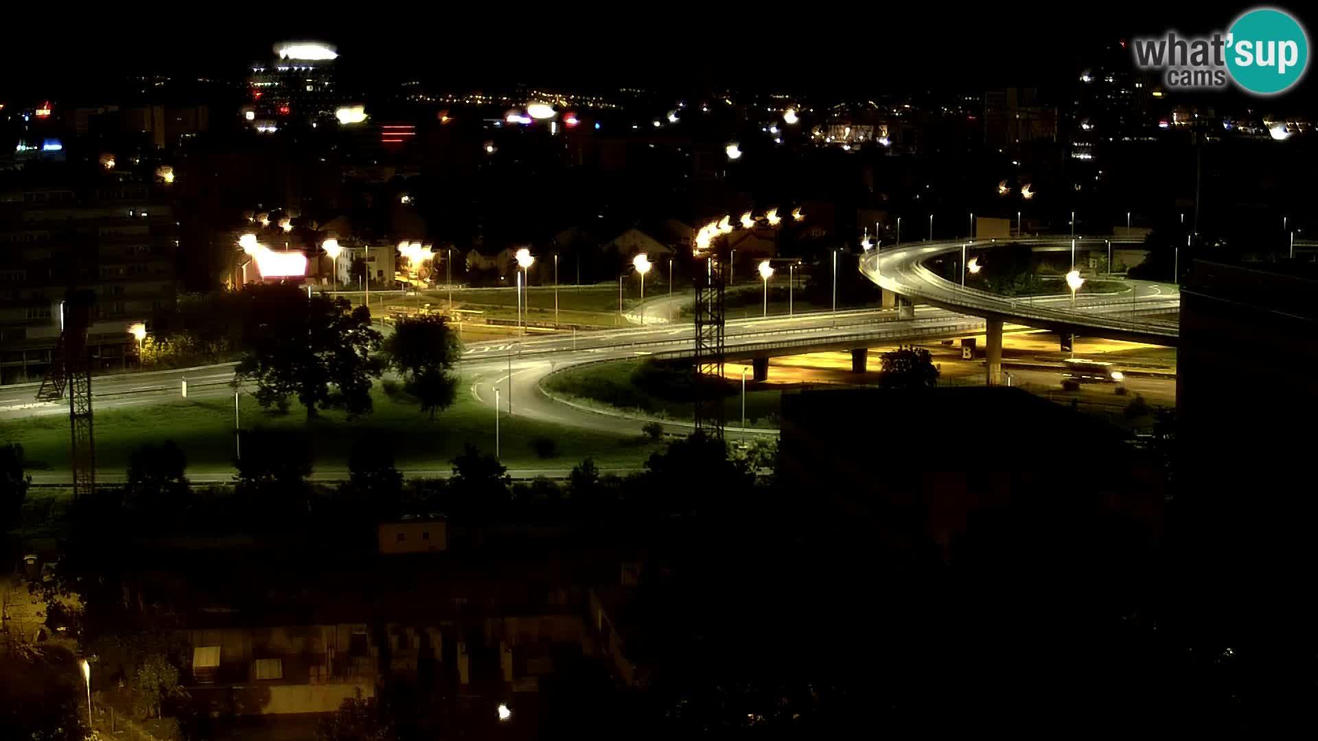 Rond-point en direct traversant les avenues Slavonska et Marin Držić à Zagreb webcam