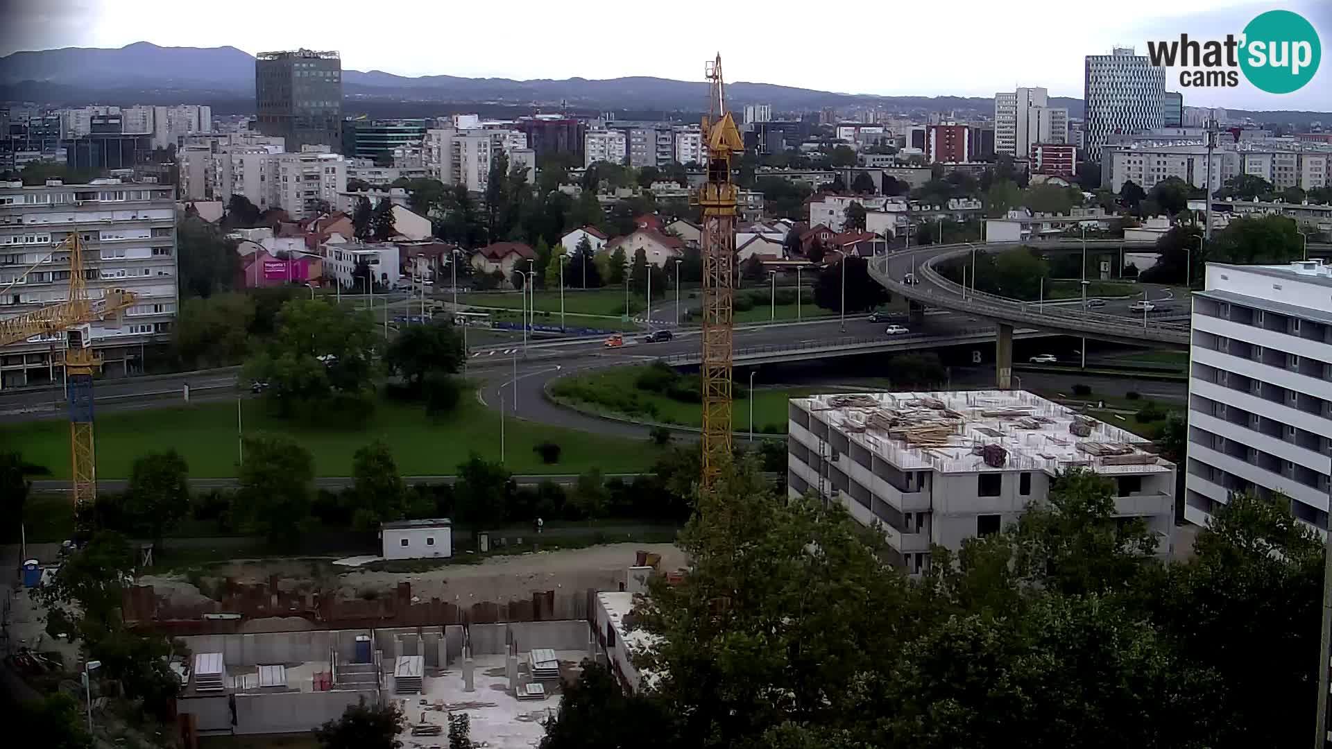 Live Interchange of Slavonska Avenue and Marin Držić Avenue in Zagreb webcam