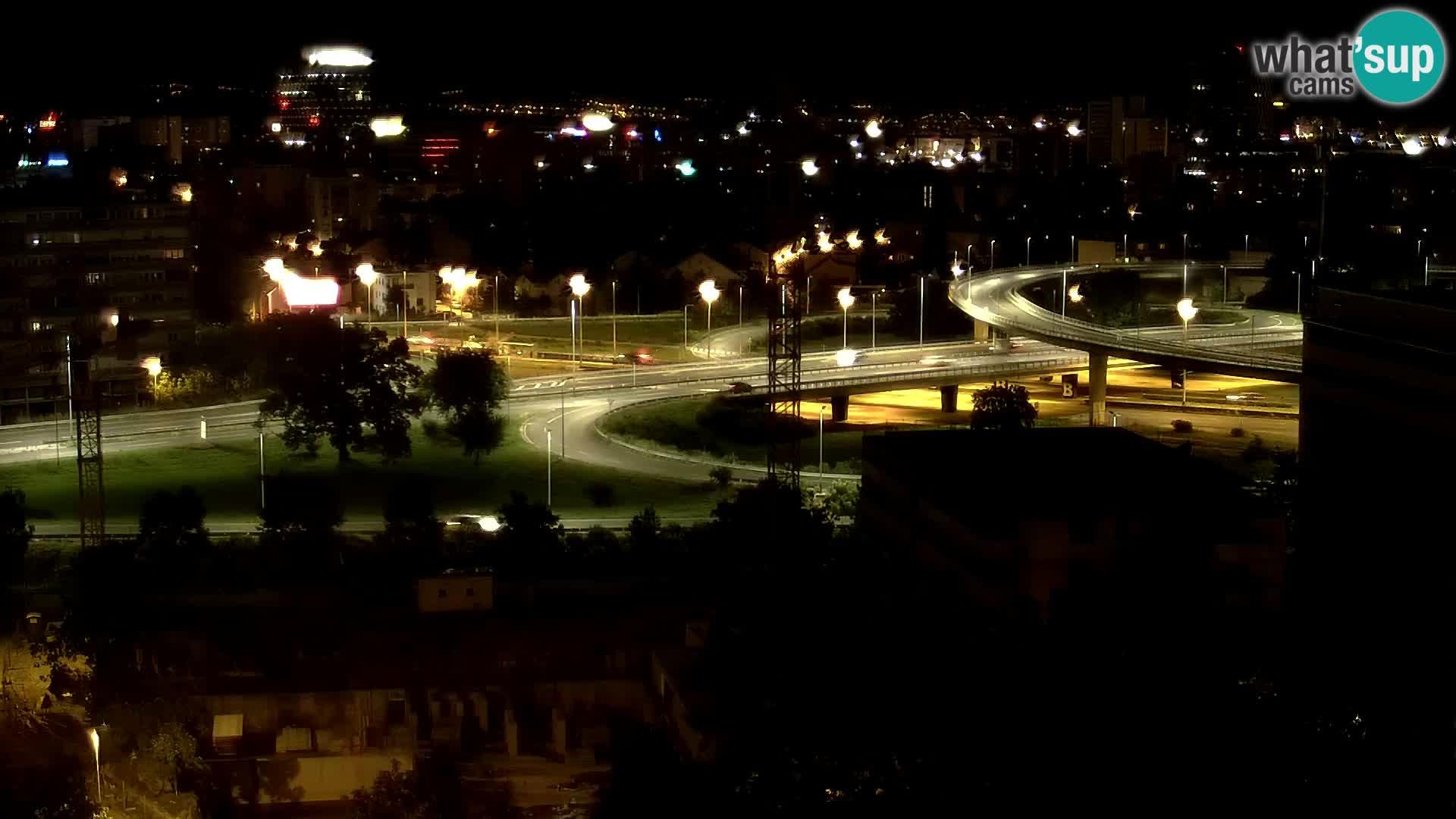 Web kamera Petlja Slavonska – Držićeva  – Zagreb Live