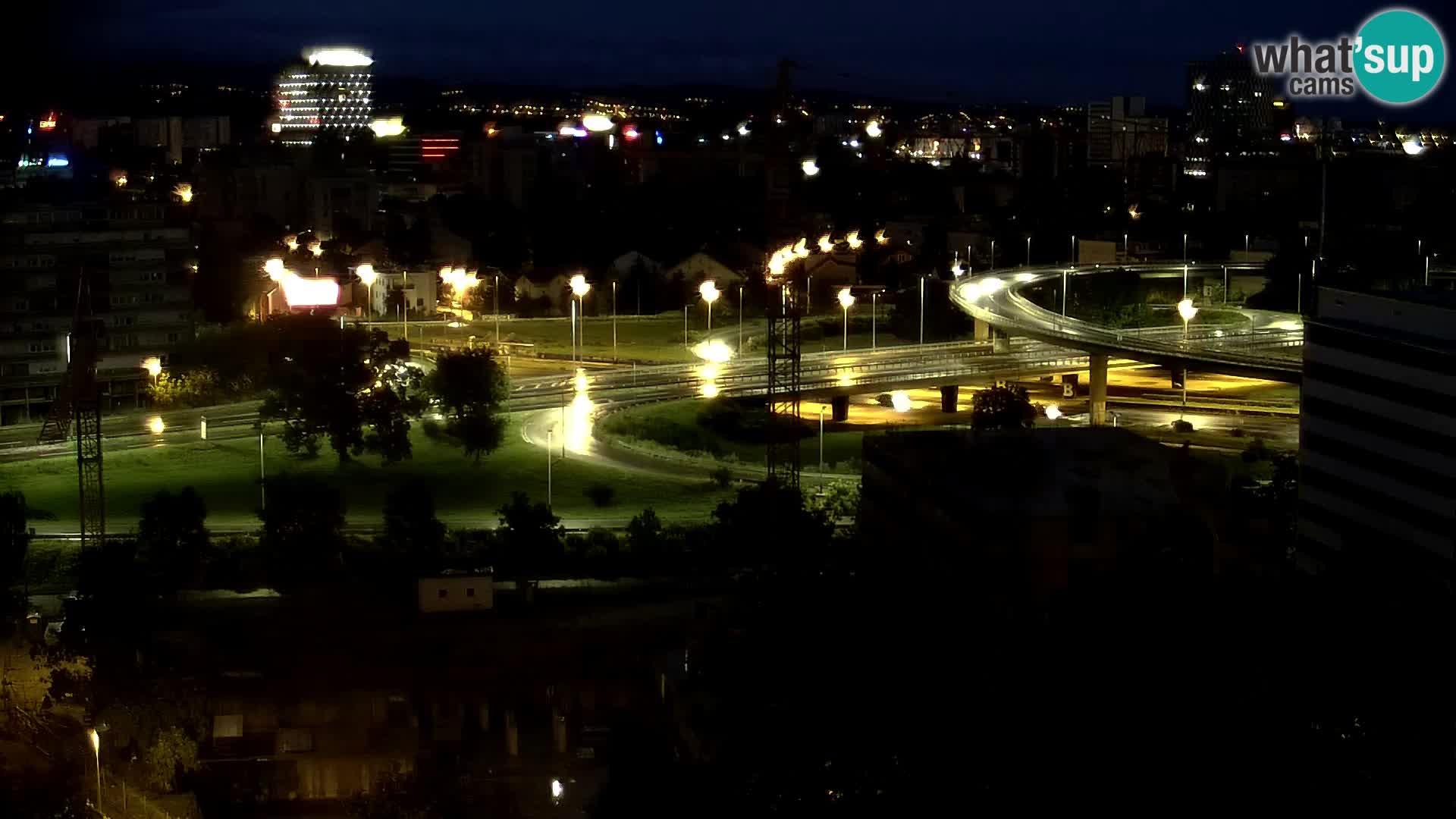 Krožišče Slavonske in Marin Držićeve ulice v Zagrebu v živo