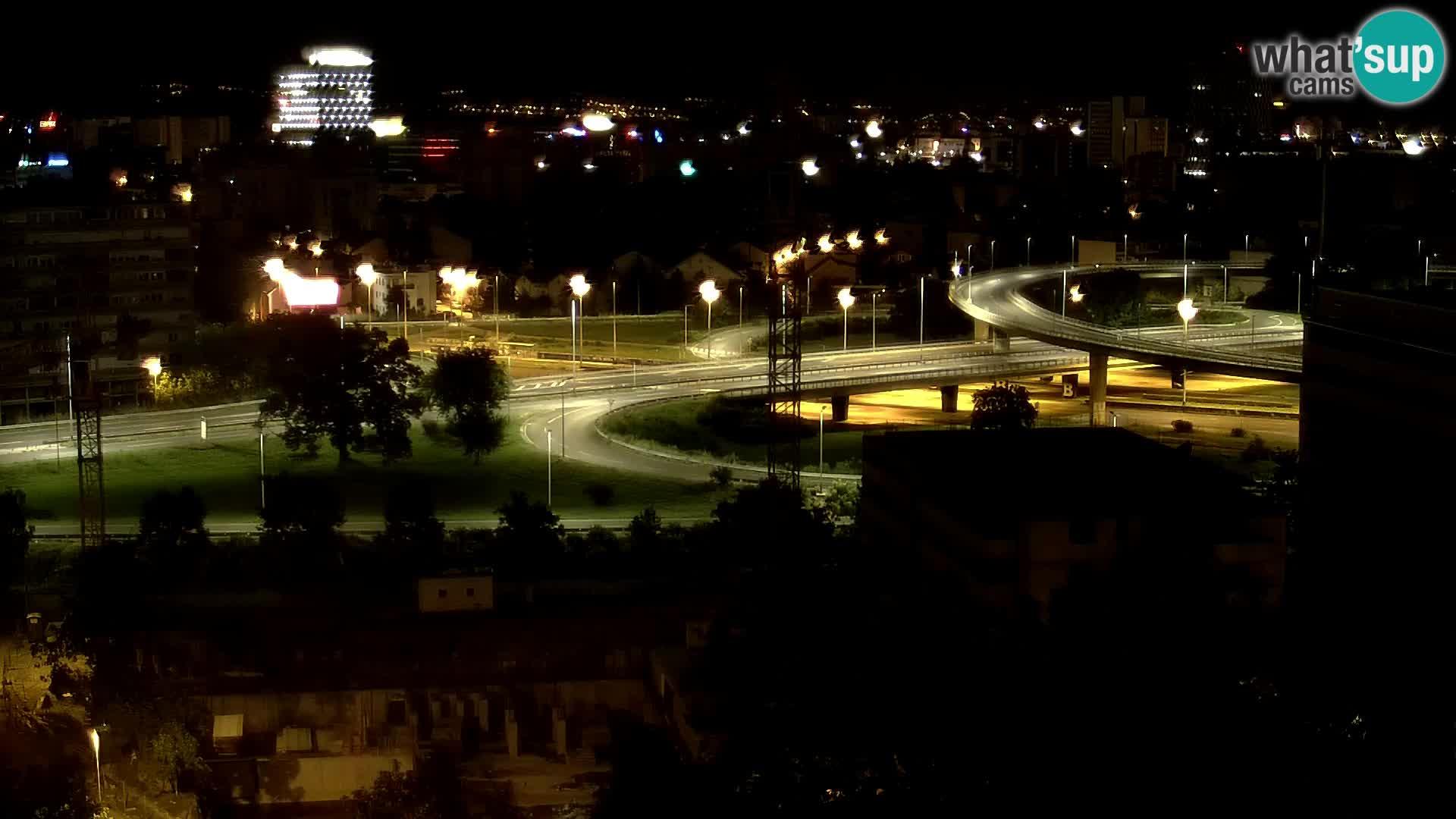 Rotatoria e incrocio viale Slavonska e Marin Držić  – webcam di Zagabria