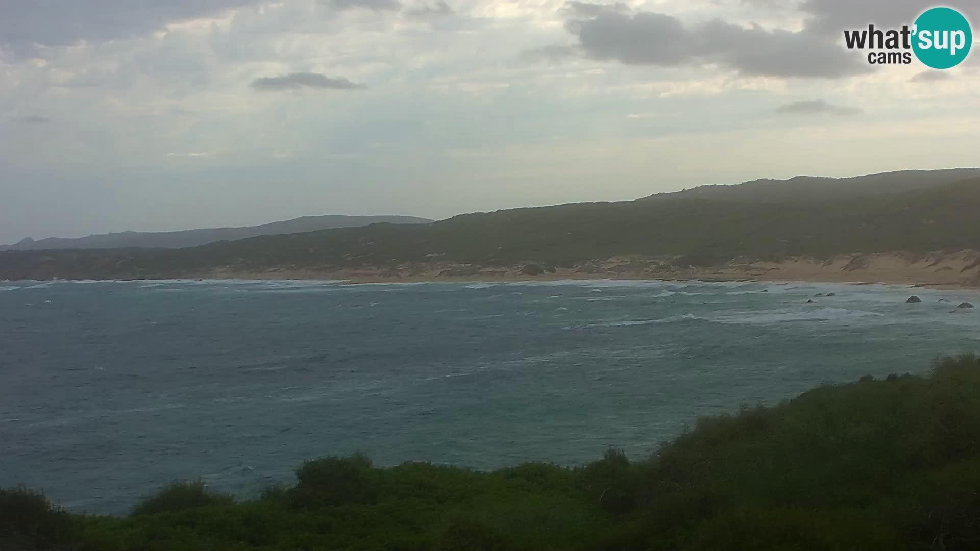 Plaža Naracu Nieddu spletna kamera – Aglientu – Sardinija