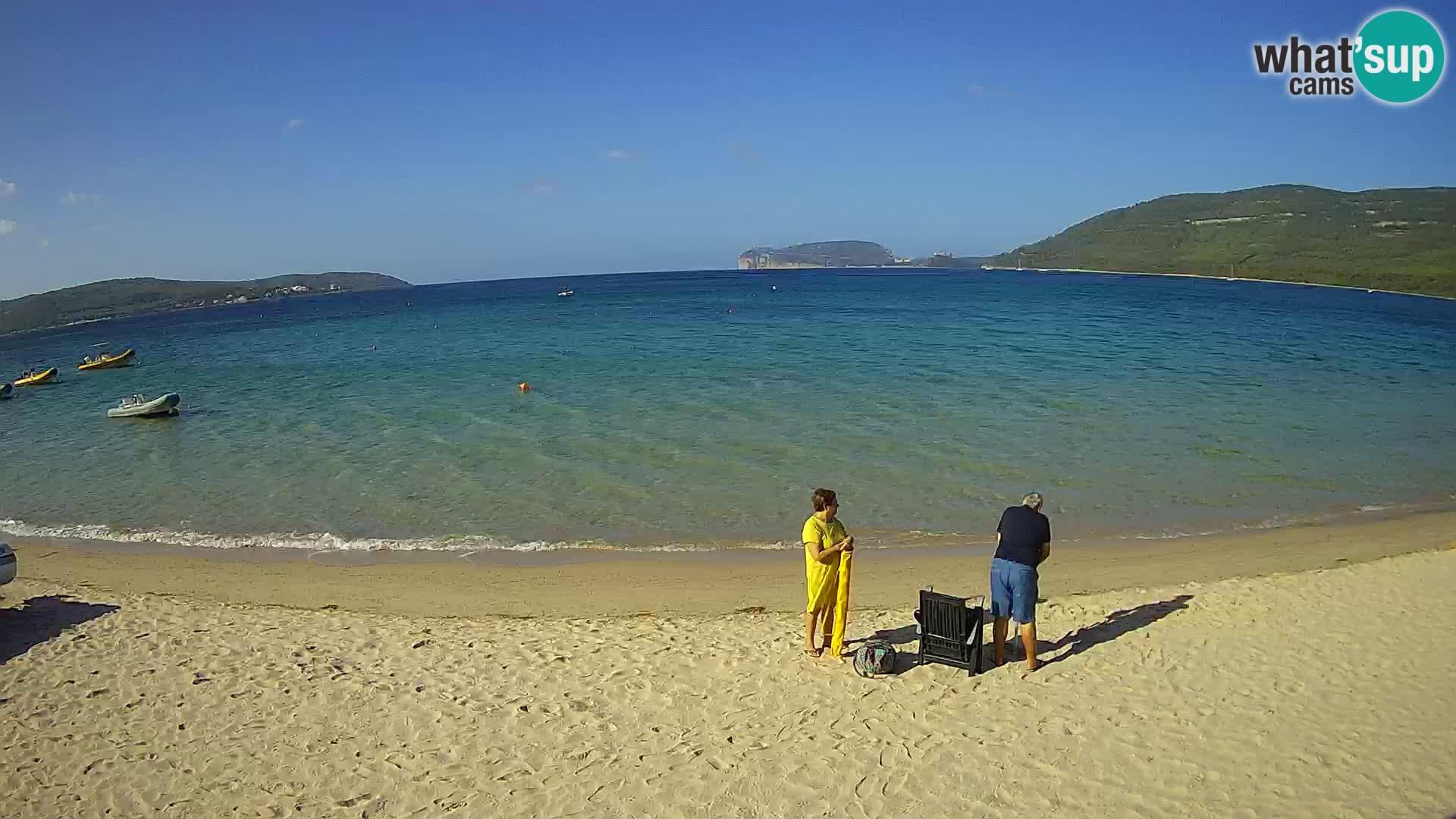 Spletna kamera v živo Plaža Mugoni – Alghero – Sardinija – Italija