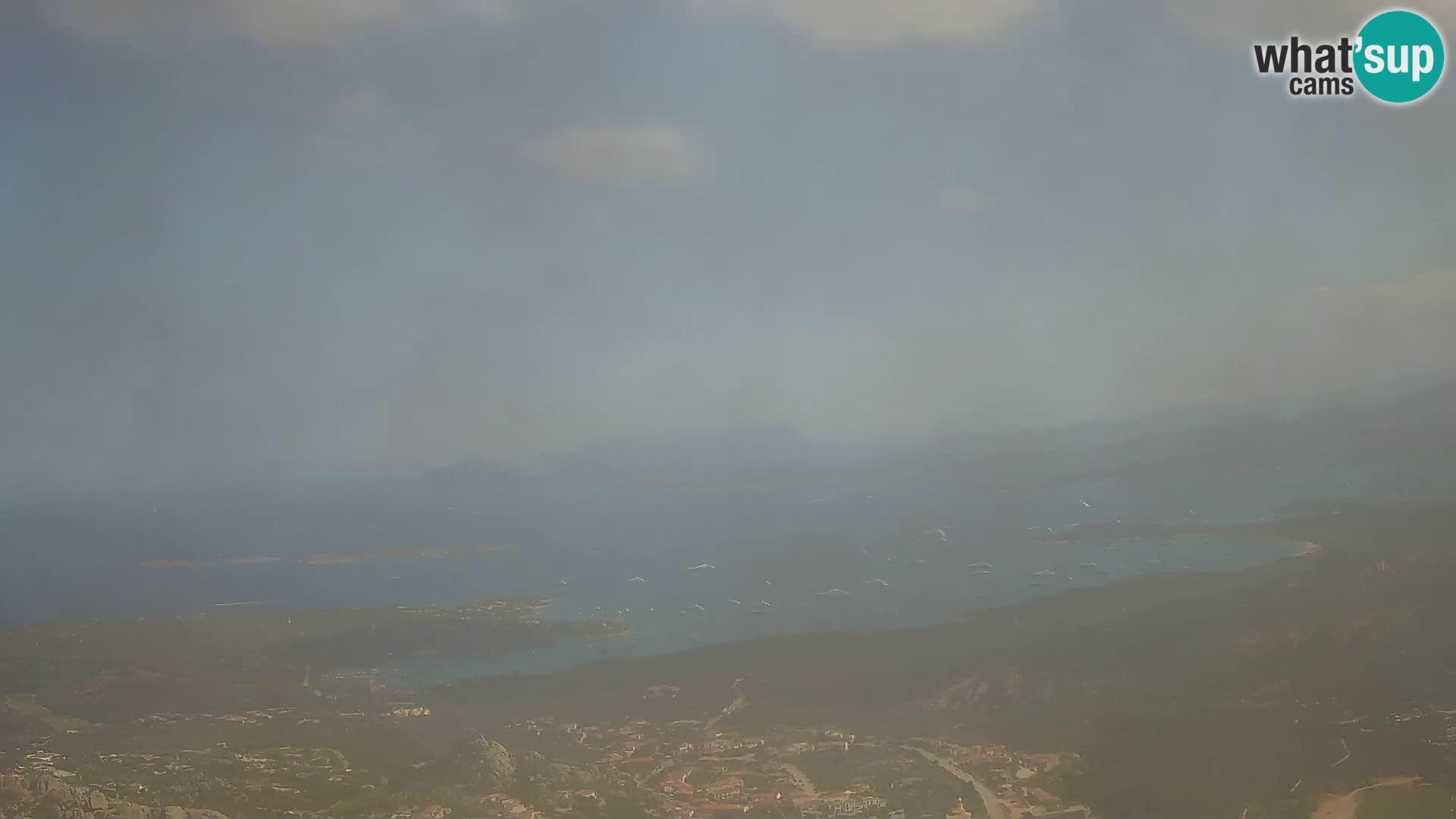 Monte Moro web kamera Costa Smeralda panoramski pogled na Sardiniju