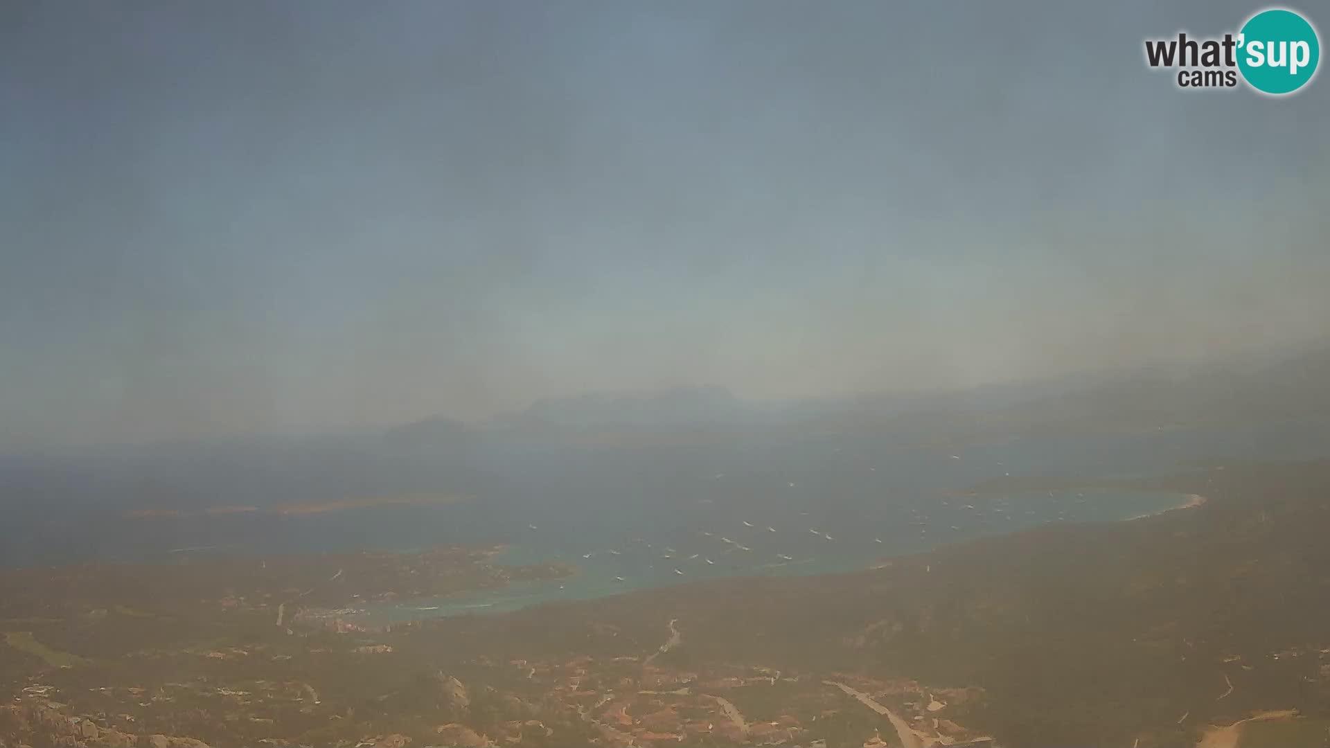 Monte Moro livecam Costa Smeralda vue panoramique Sardaigne