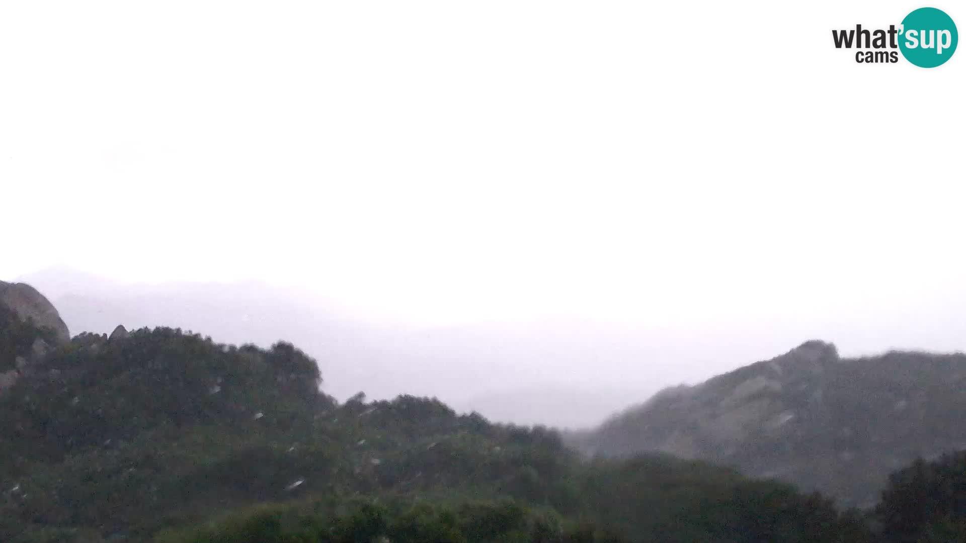 Camera en vivo Costa Smeralda – Vista panorámica desde Monte Moro – Cerdeña – Italia
