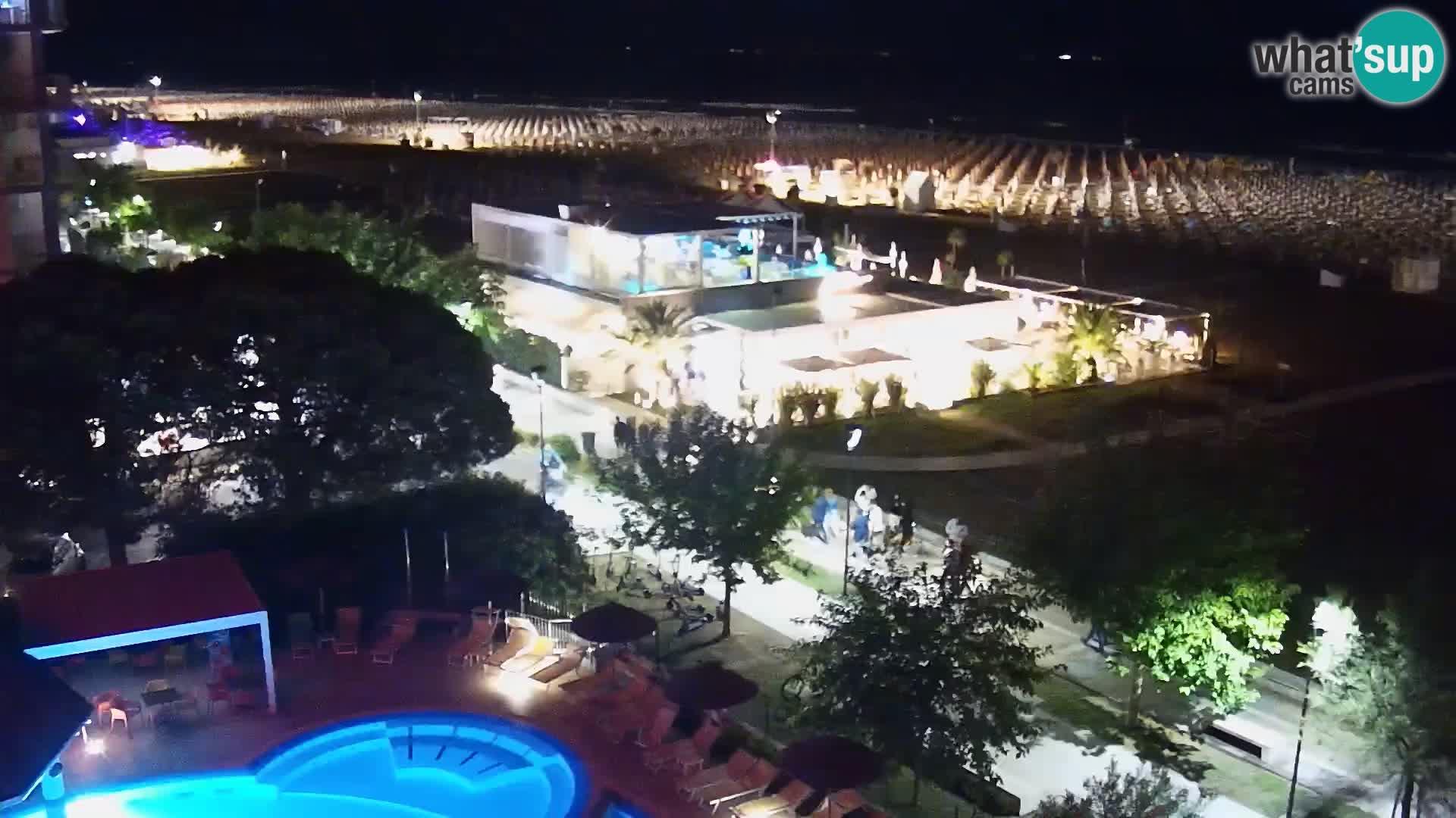 Webcam en direct plage de Bibione – vue depuis Ashanti ApartHotel