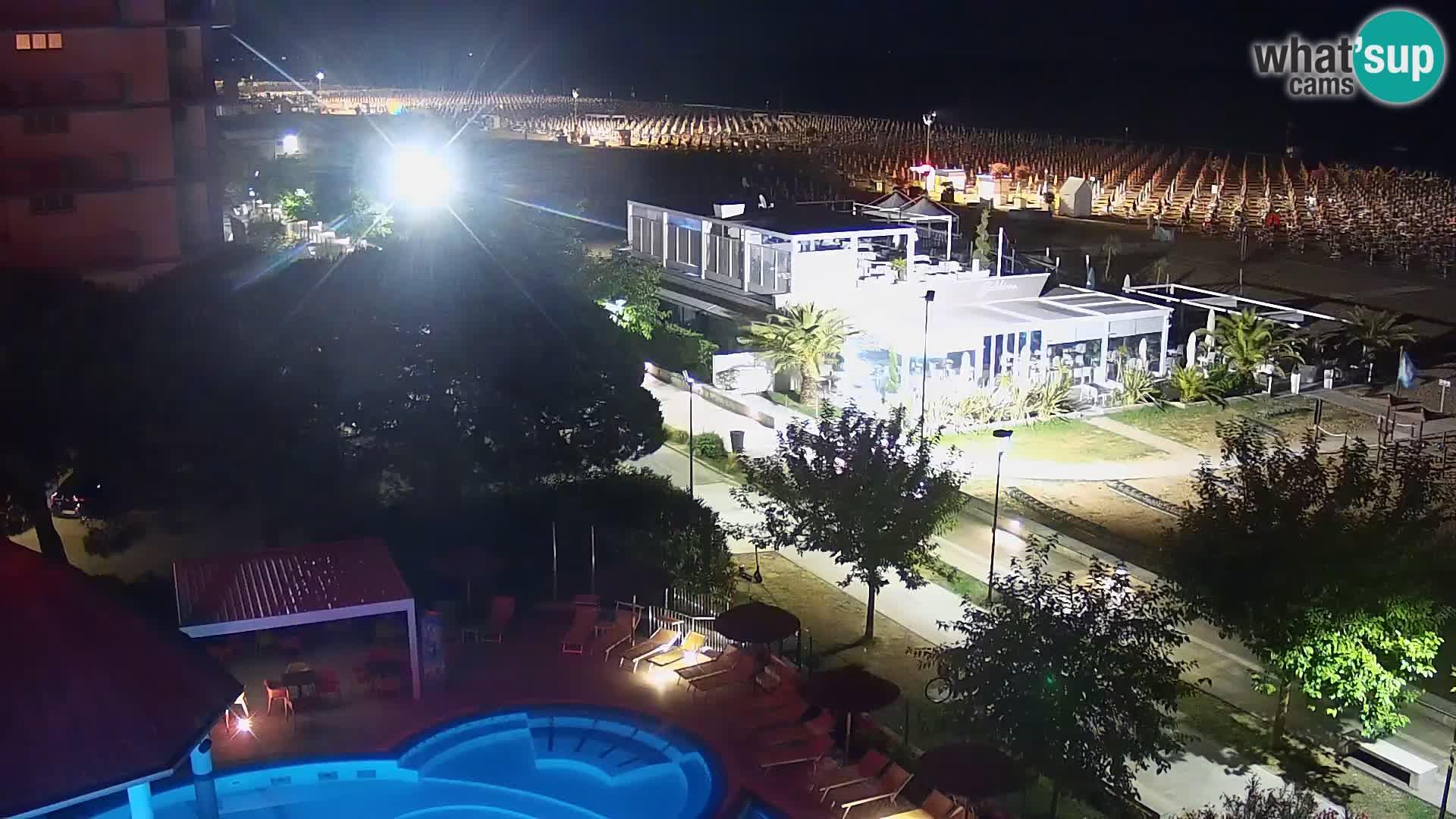 Web kamera Bibione plaža – pogled sa Ashanti ApartHotela