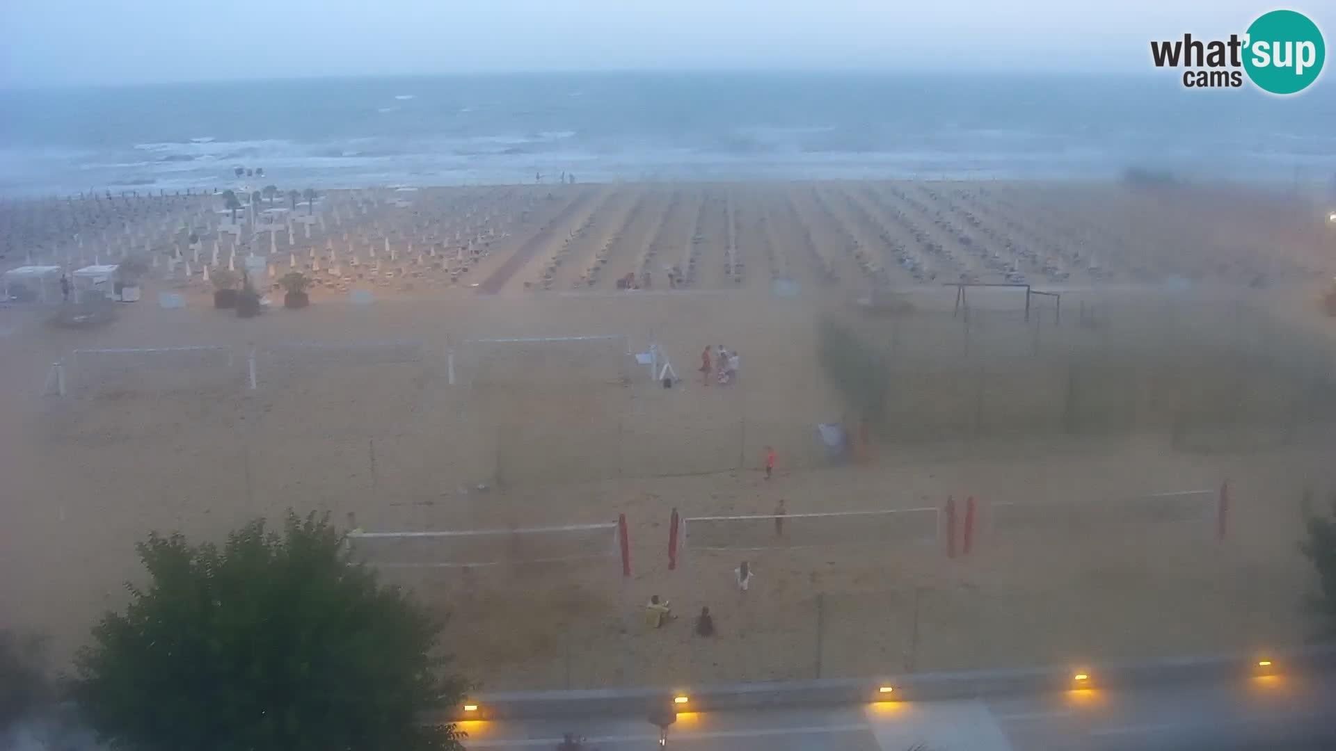 Spletna kamera Bibione plaža – pogled iz Ashanti ApartHotela