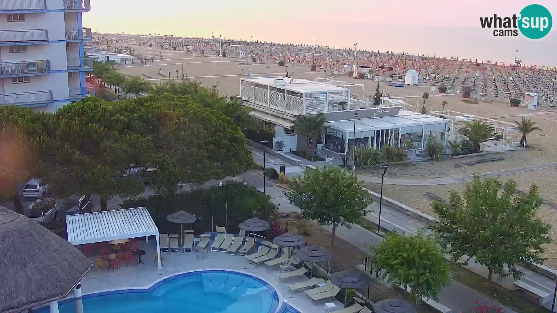 Webcam en vivo playa Bibione – vista desde Ashanti ApartHotel